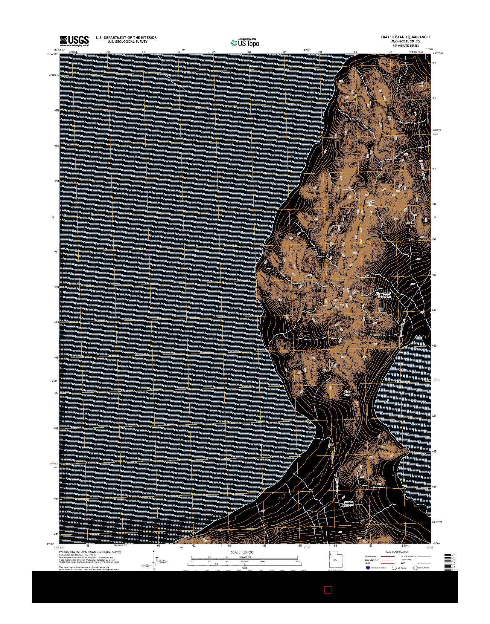 USGS US TOPO 7.5-MINUTE MAP FOR CRATER ISLAND, UT 2014