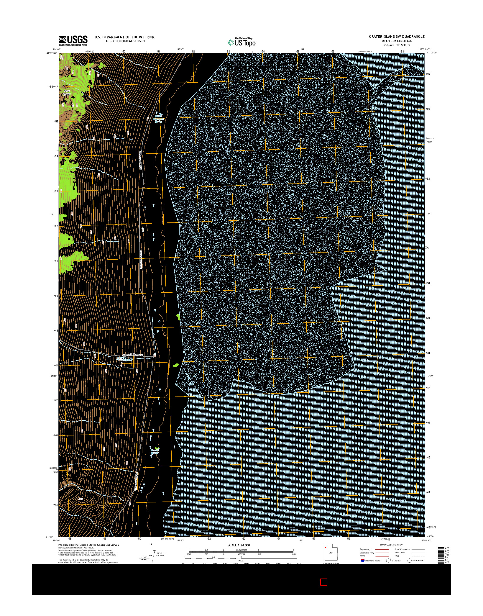 USGS US TOPO 7.5-MINUTE MAP FOR CRATER ISLAND SW, UT 2014