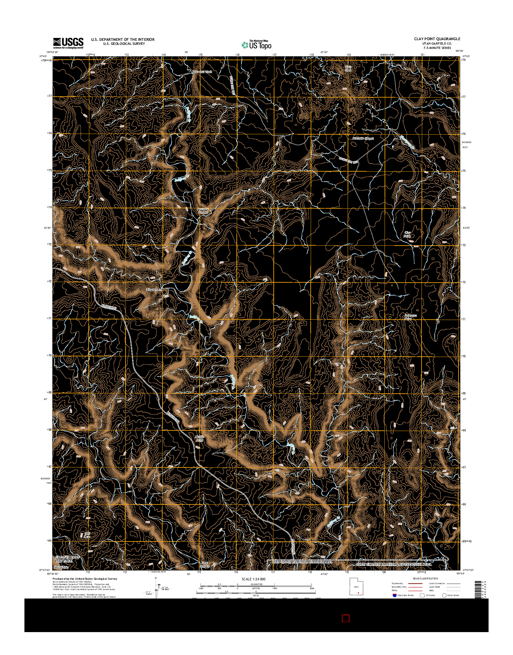 USGS US TOPO 7.5-MINUTE MAP FOR CLAY POINT, UT 2014