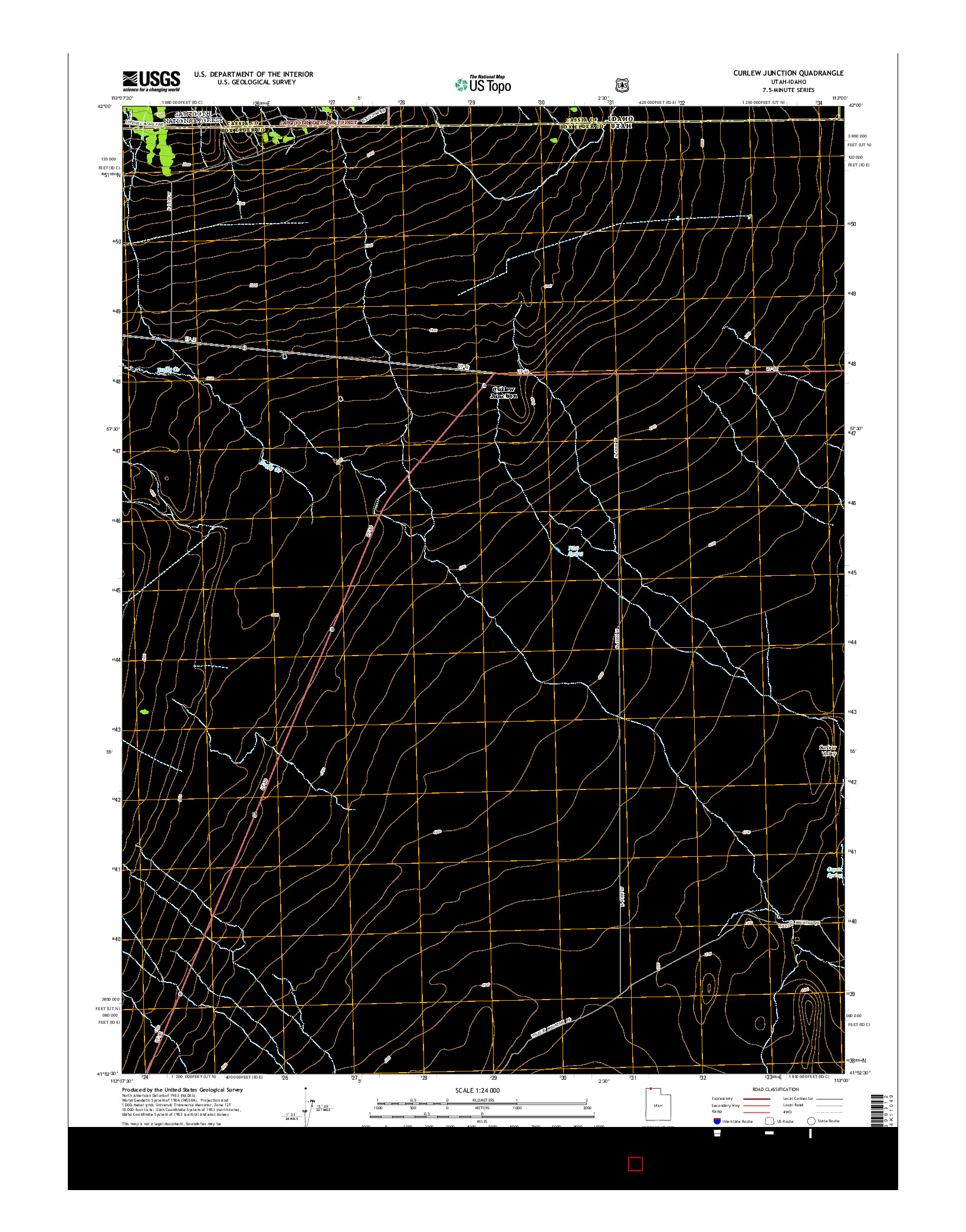 USGS US TOPO 7.5-MINUTE MAP FOR CURLEW JUNCTION, UT-ID 2014