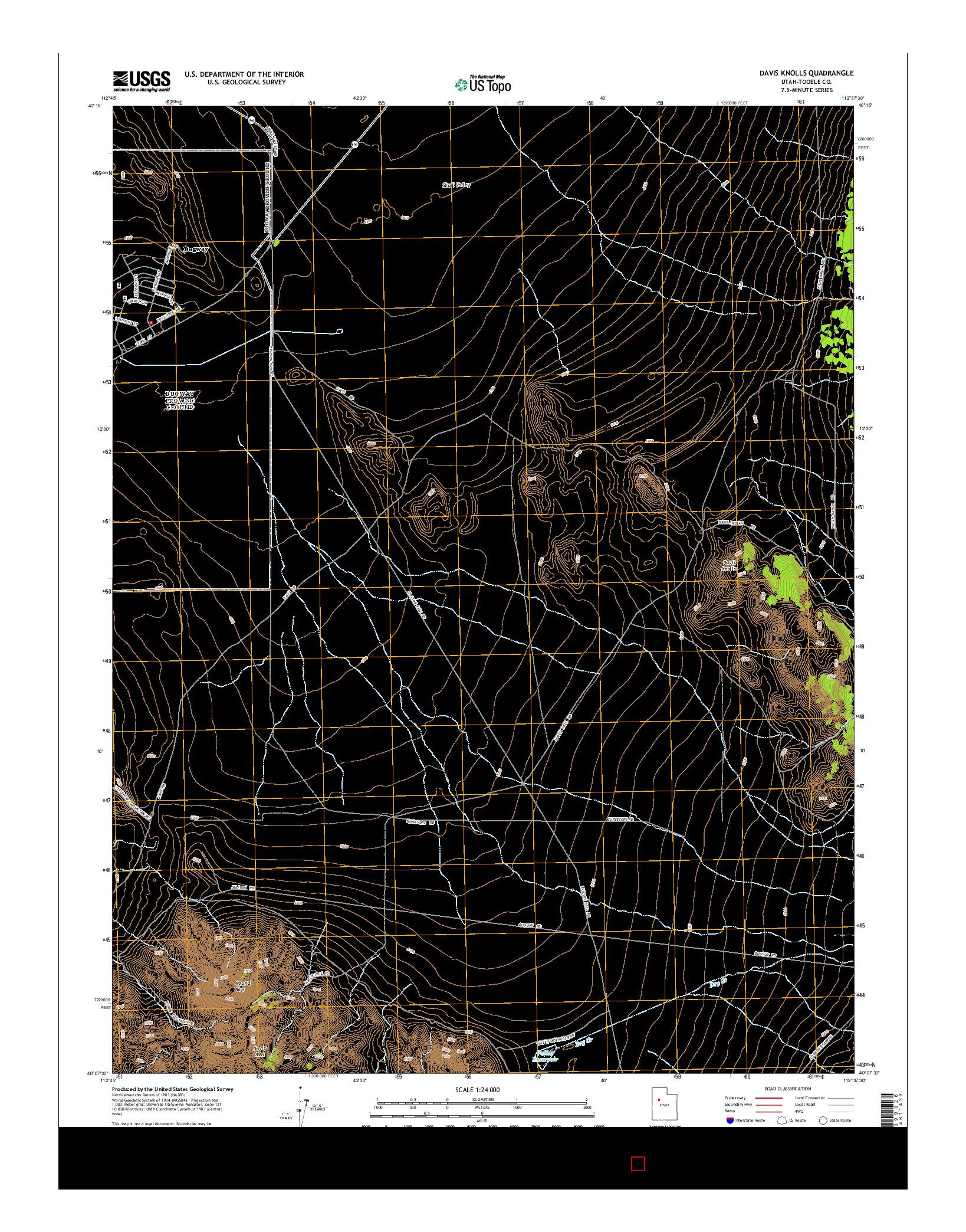 USGS US TOPO 7.5-MINUTE MAP FOR DAVIS KNOLLS, UT 2014