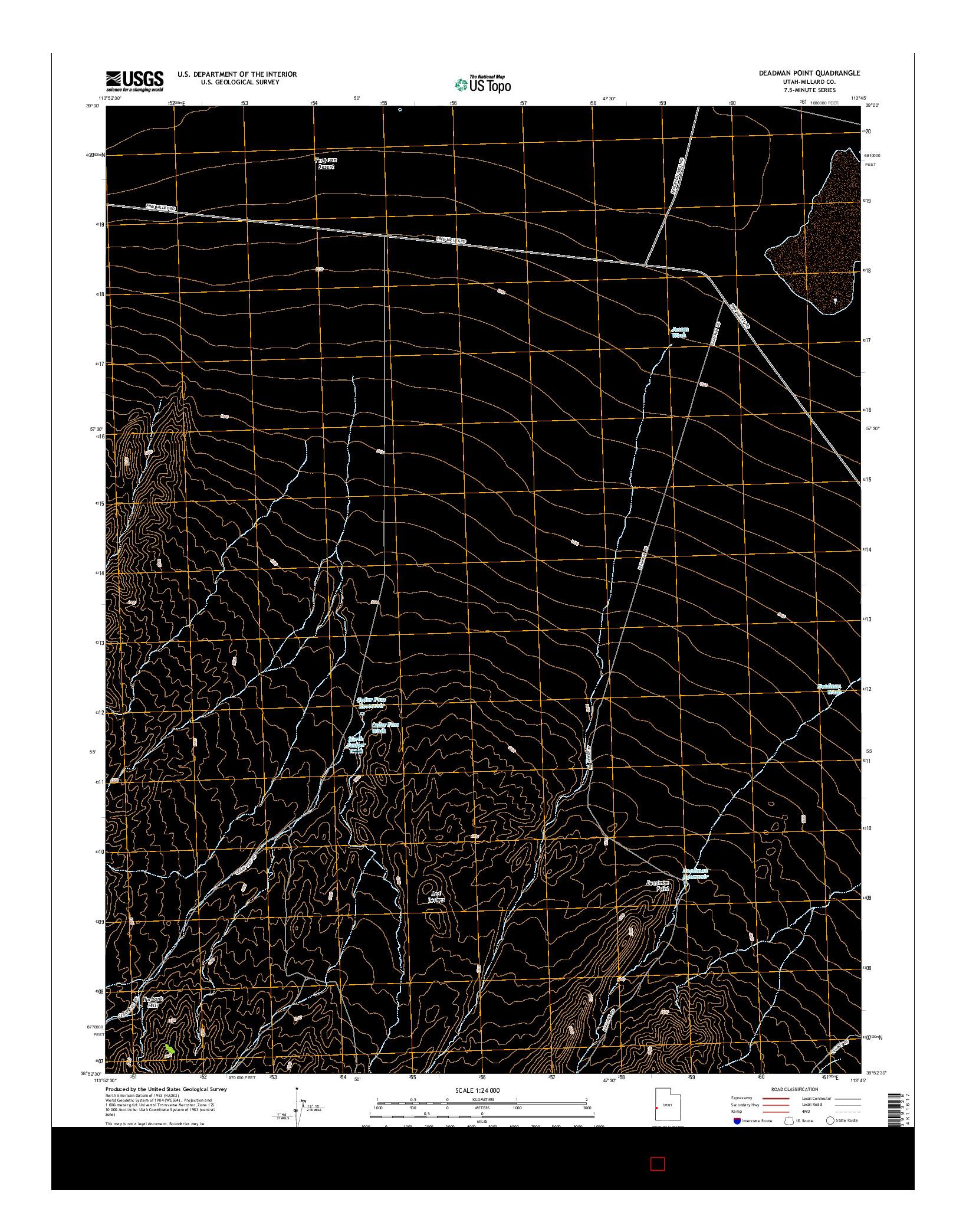 USGS US TOPO 7.5-MINUTE MAP FOR DEADMAN POINT, UT 2014