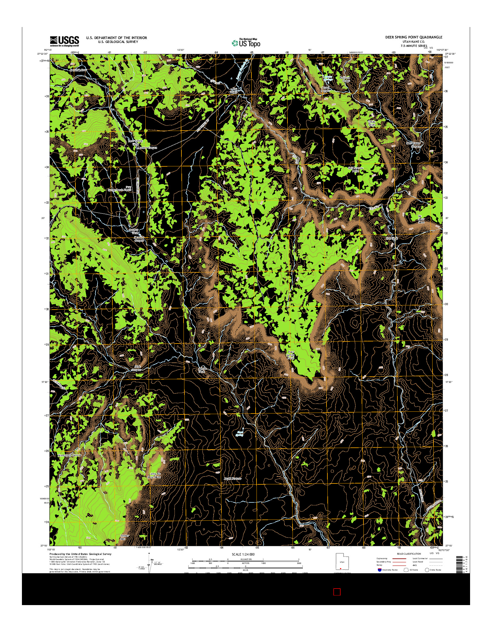 USGS US TOPO 7.5-MINUTE MAP FOR DEER SPRING POINT, UT 2014