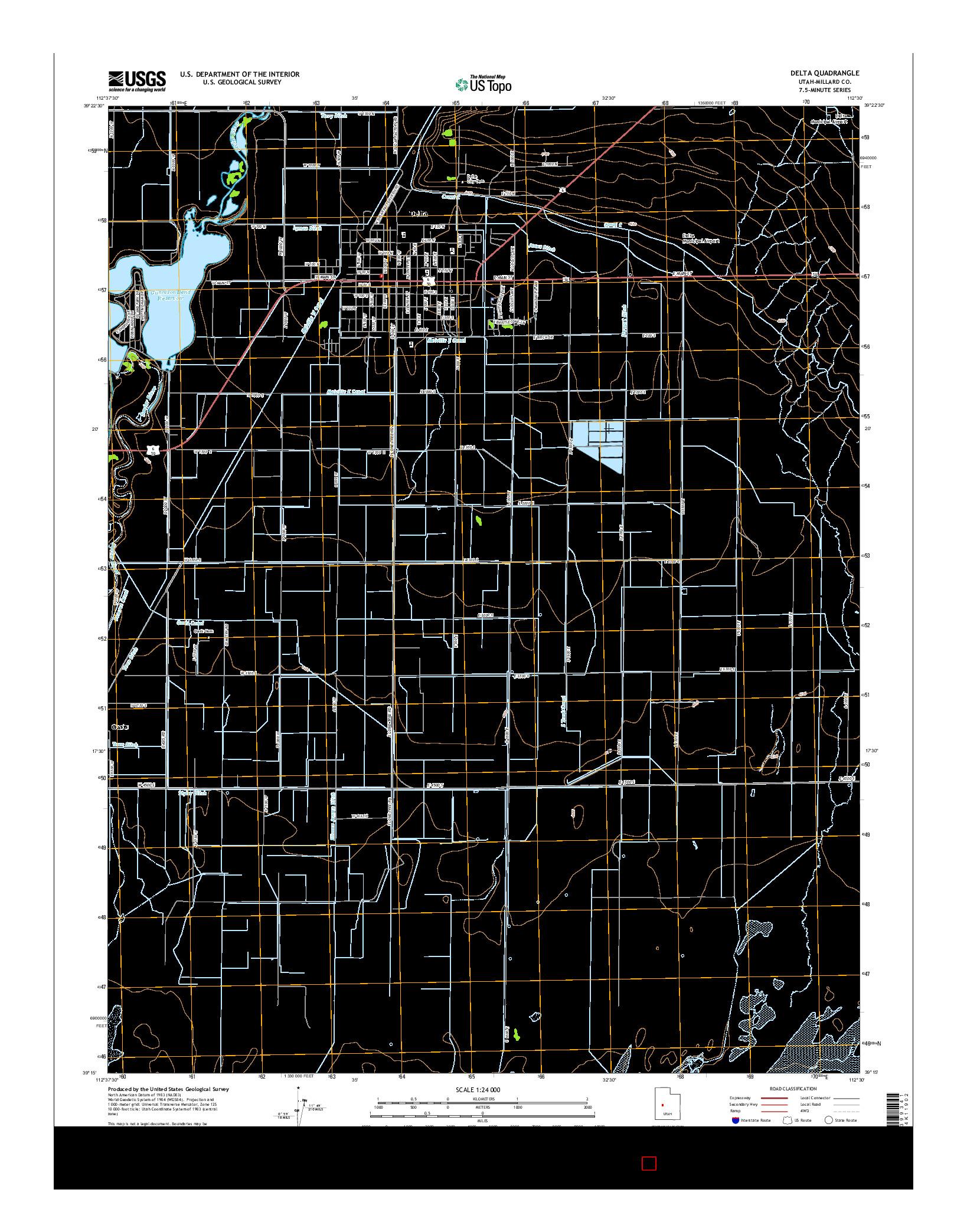 USGS US TOPO 7.5-MINUTE MAP FOR DELTA, UT 2014