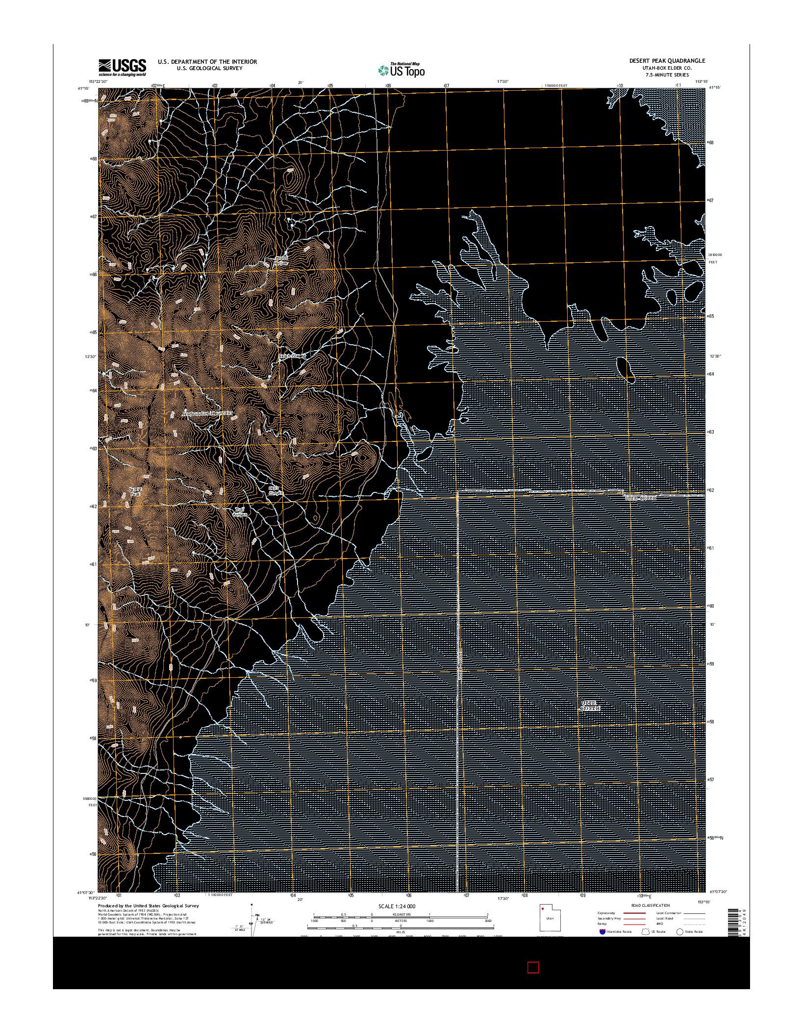 USGS US TOPO 7.5-MINUTE MAP FOR DESERT PEAK, UT 2014
