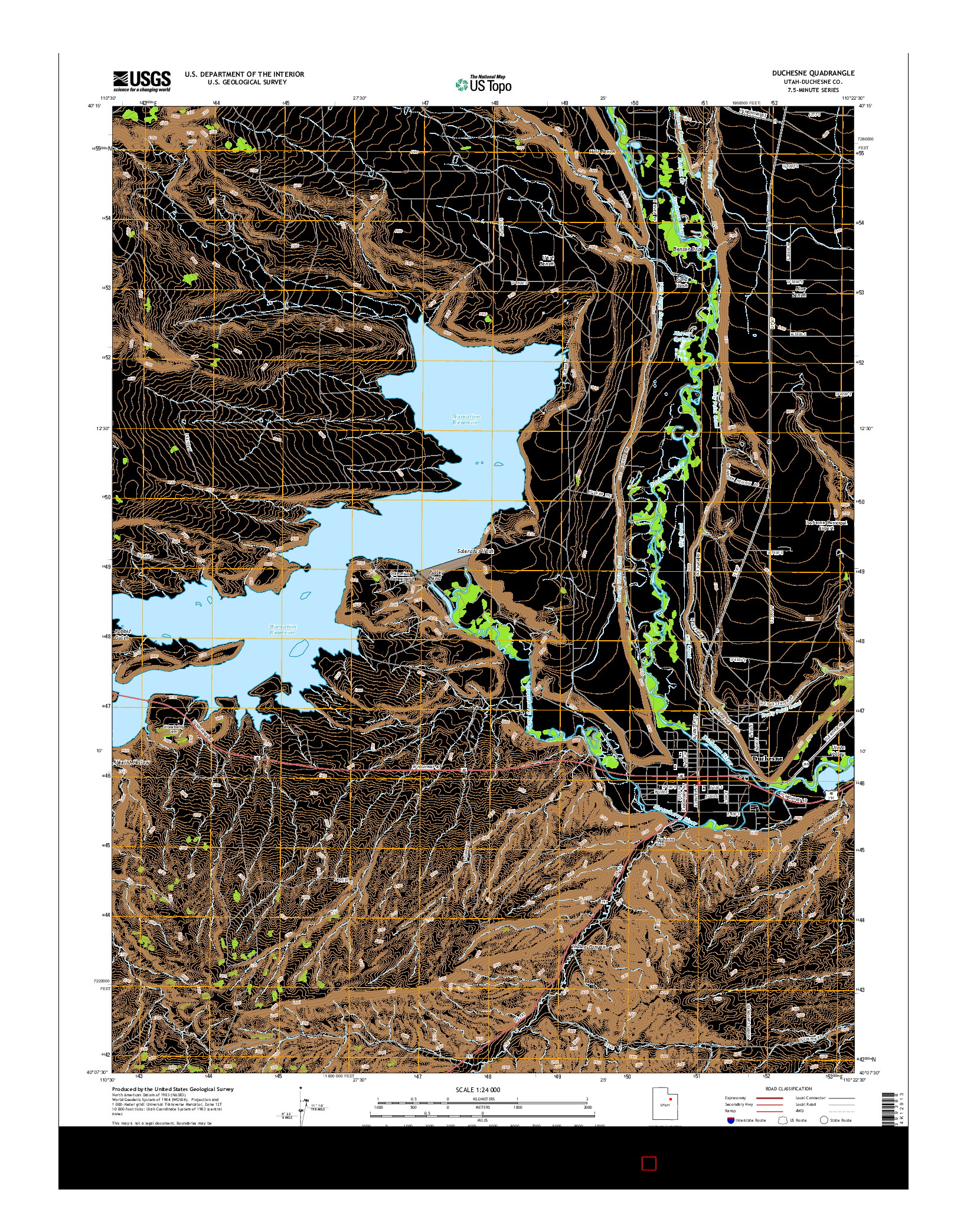 USGS US TOPO 7.5-MINUTE MAP FOR DUCHESNE, UT 2014