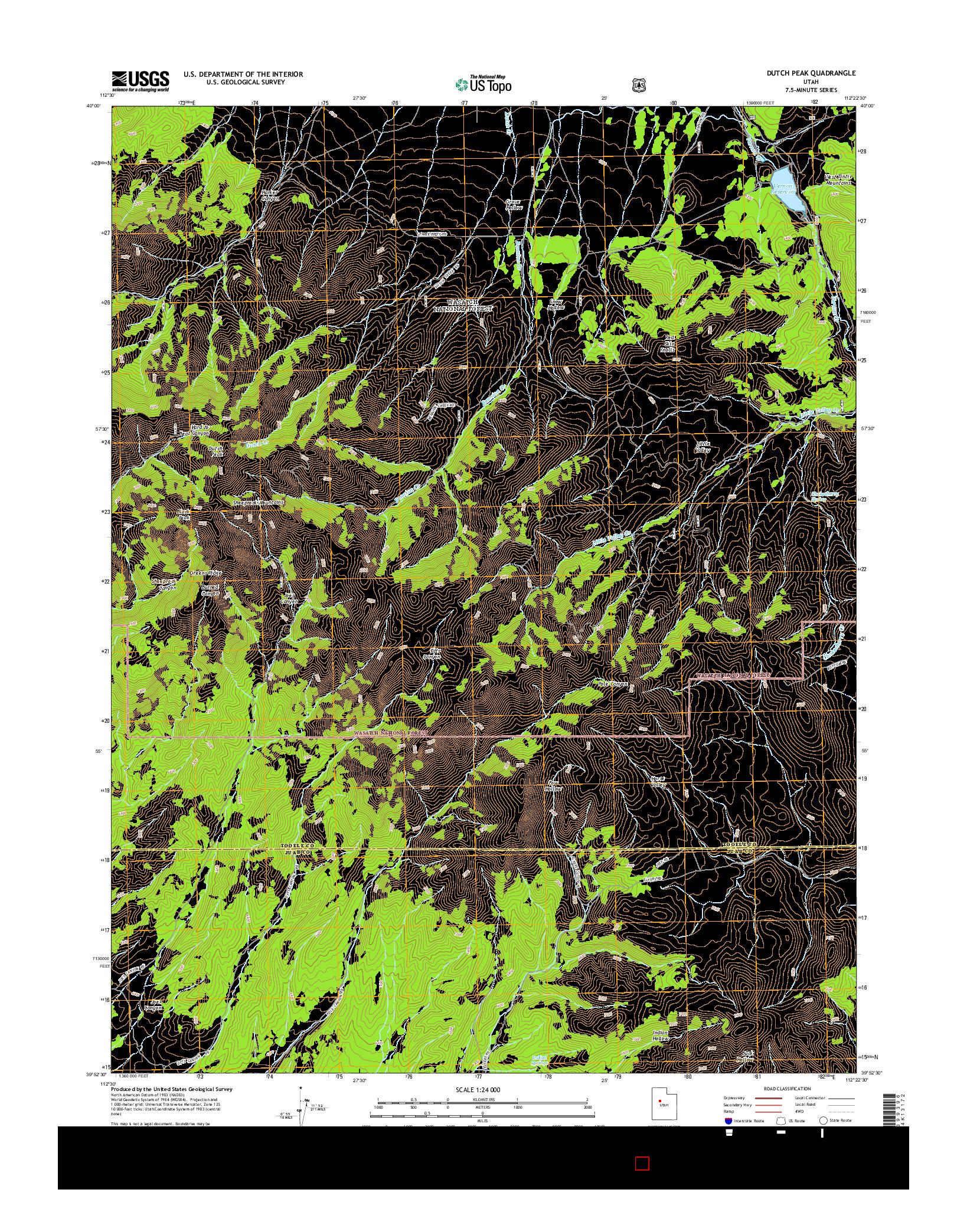 USGS US TOPO 7.5-MINUTE MAP FOR DUTCH PEAK, UT 2014