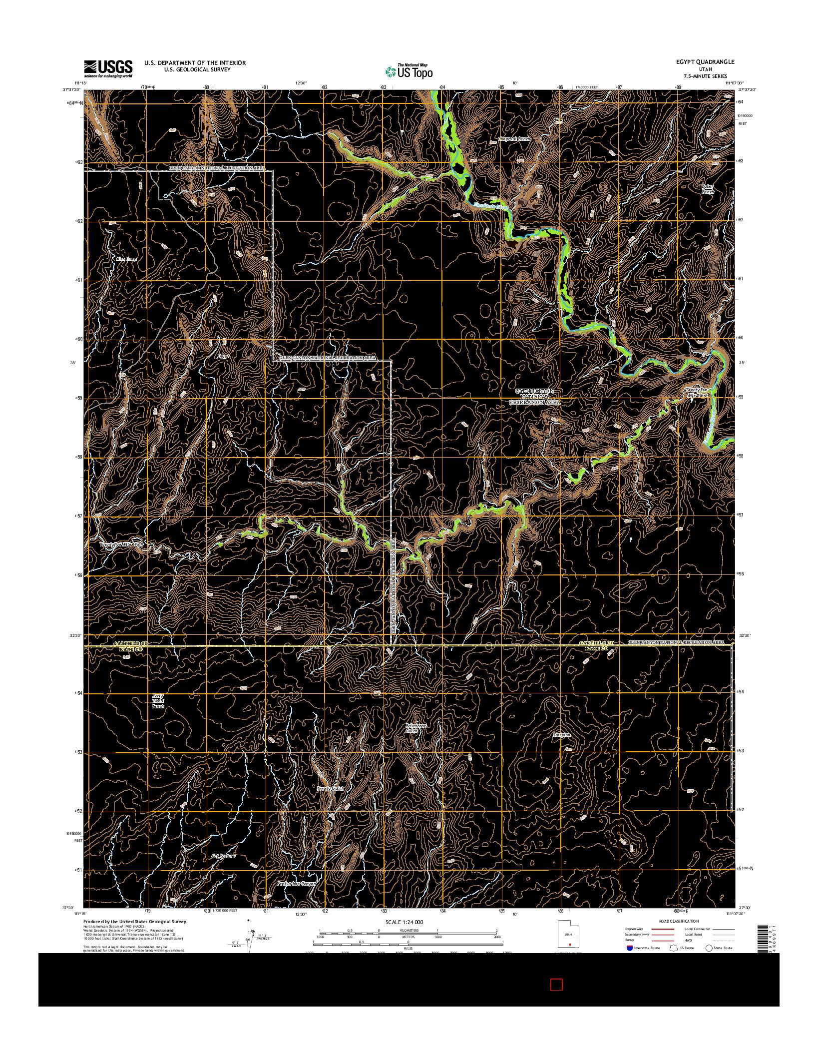 USGS US TOPO 7.5-MINUTE MAP FOR EGYPT, UT 2014