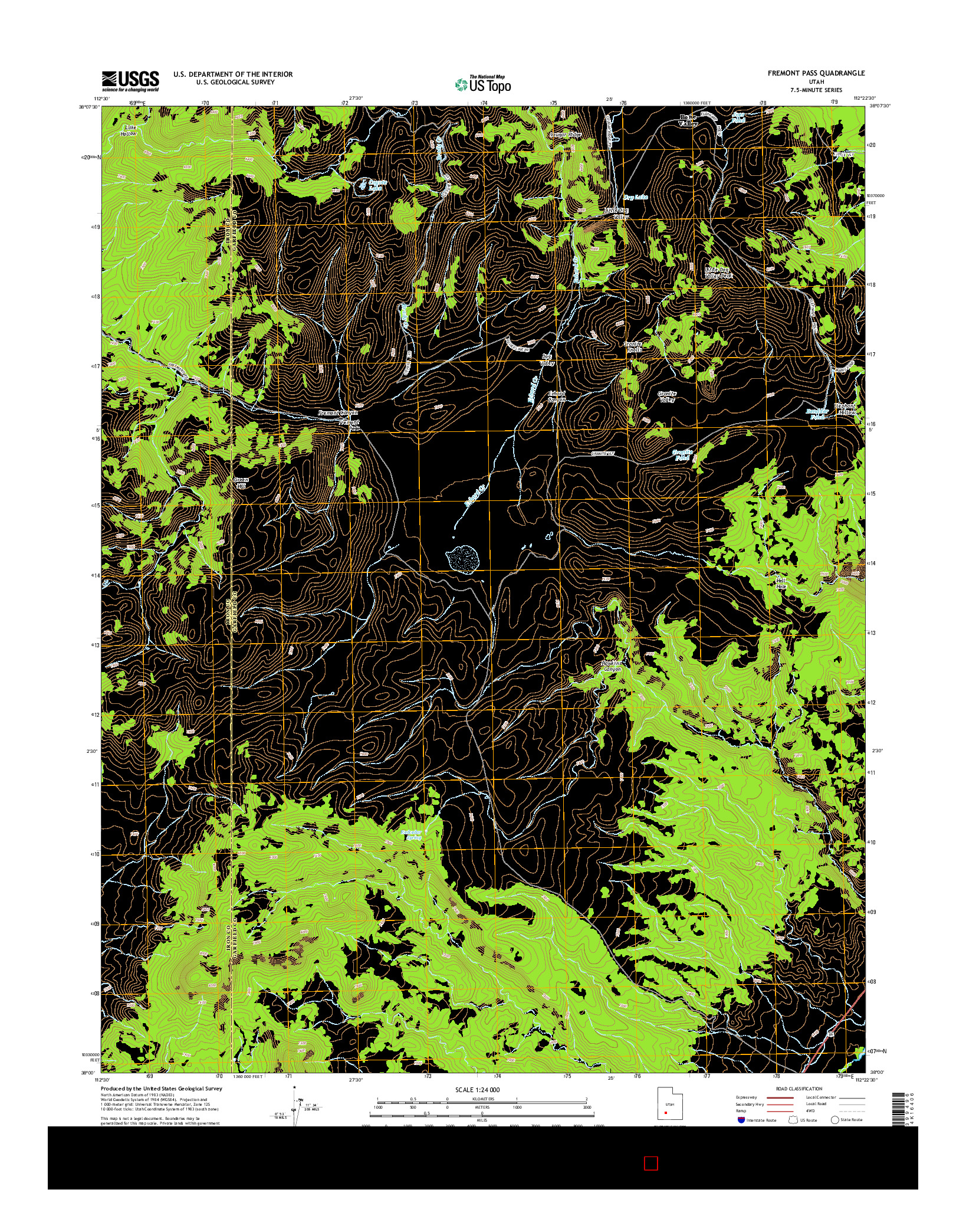 USGS US TOPO 7.5-MINUTE MAP FOR FREMONT PASS, UT 2014