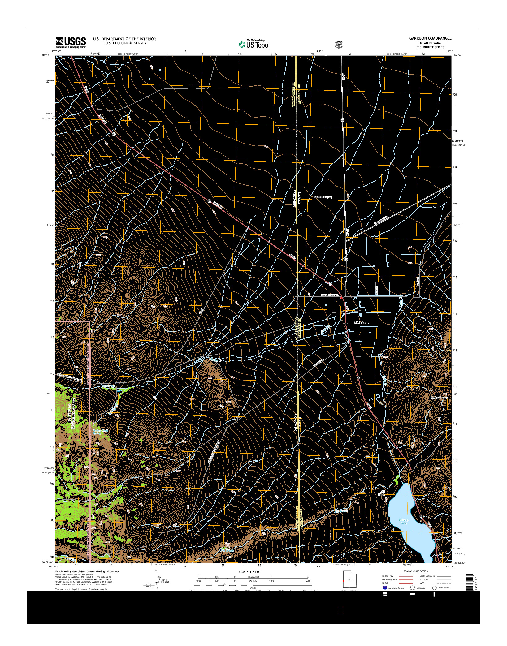 USGS US TOPO 7.5-MINUTE MAP FOR GARRISON, UT-NV 2014