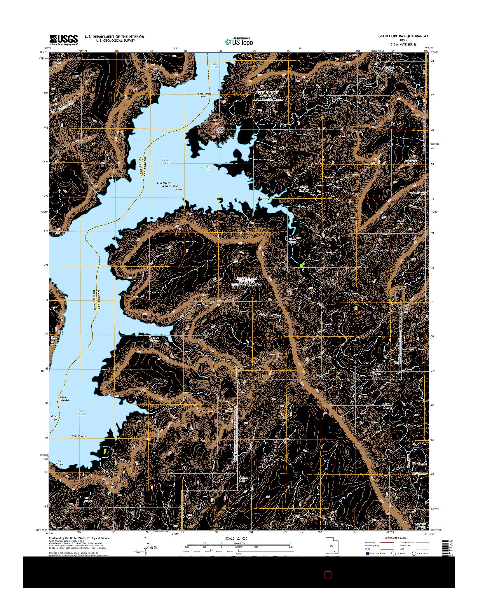 USGS US TOPO 7.5-MINUTE MAP FOR GOOD HOPE BAY, UT 2014