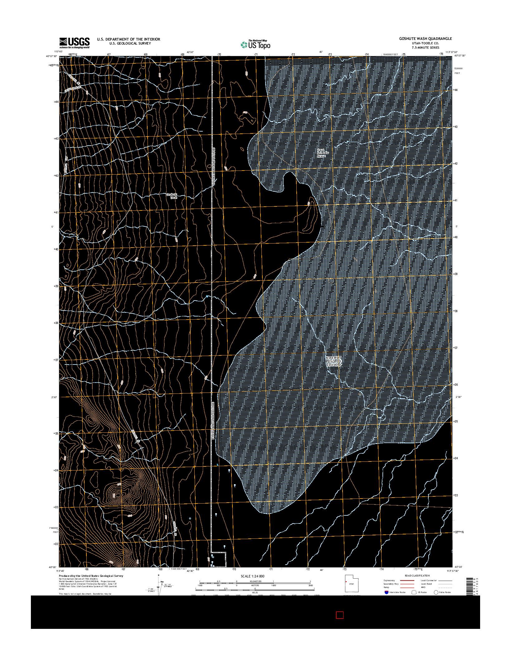 USGS US TOPO 7.5-MINUTE MAP FOR GOSHUTE WASH, UT 2014