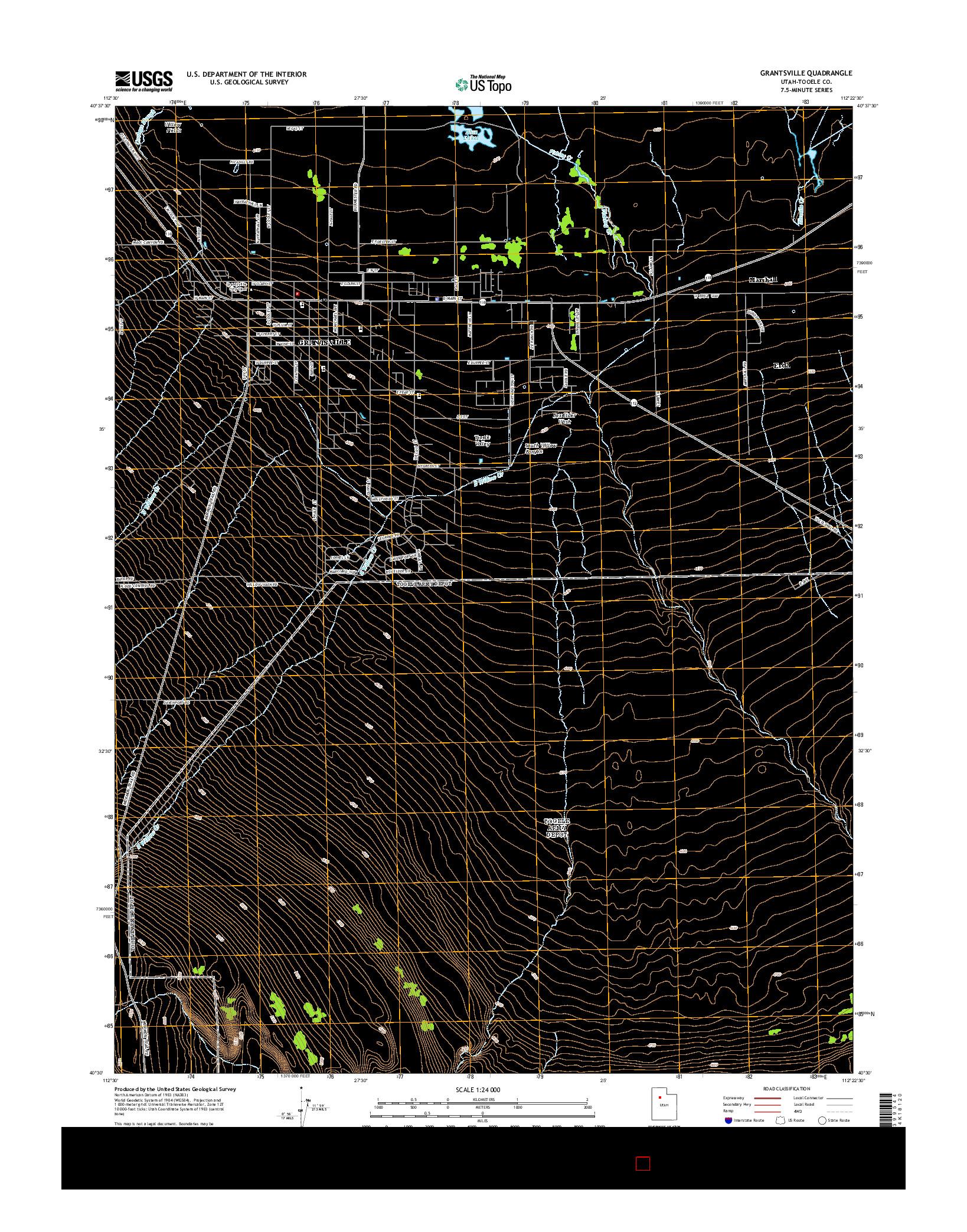 USGS US TOPO 7.5-MINUTE MAP FOR GRANTSVILLE, UT 2014
