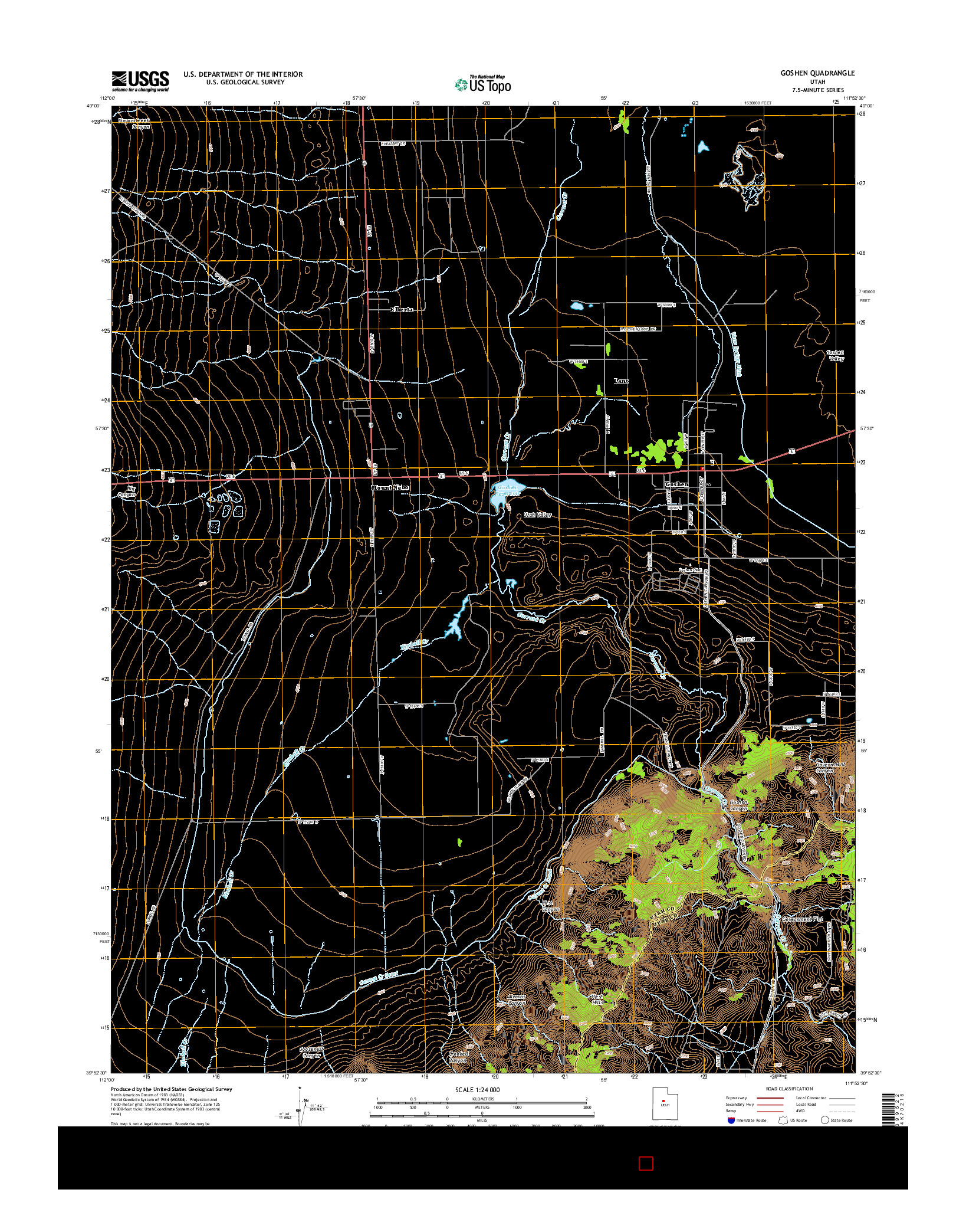 USGS US TOPO 7.5-MINUTE MAP FOR GOSHEN, UT 2014