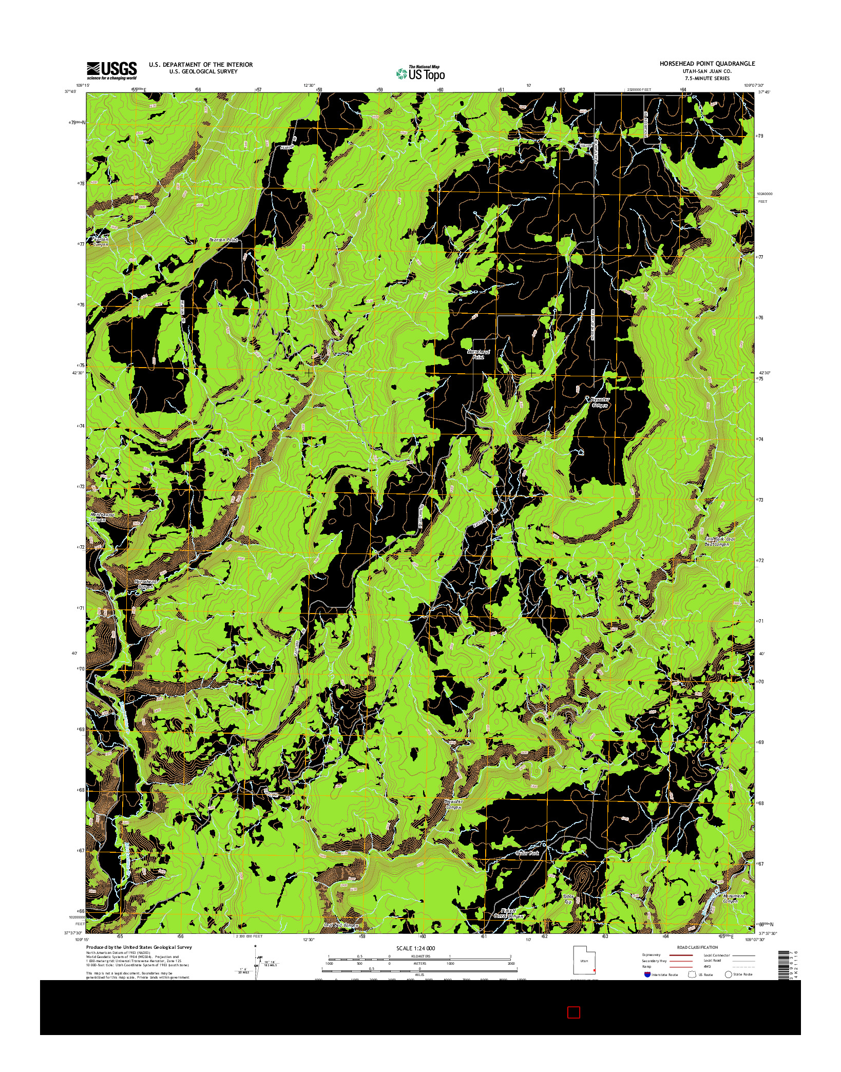 USGS US TOPO 7.5-MINUTE MAP FOR HORSEHEAD POINT, UT 2014