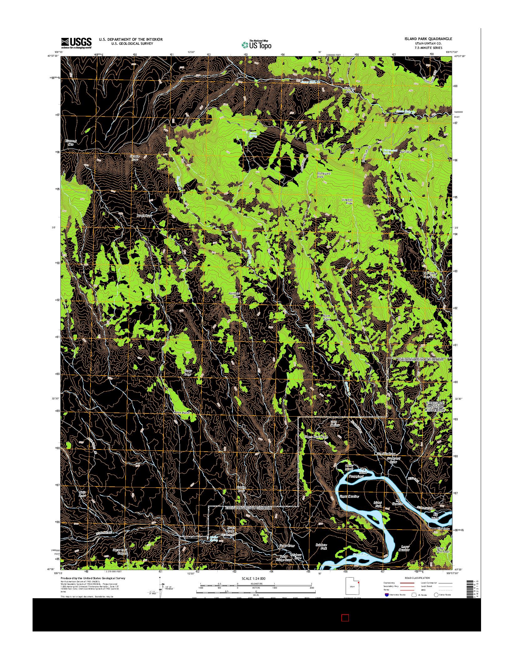 USGS US TOPO 7.5-MINUTE MAP FOR ISLAND PARK, UT 2014