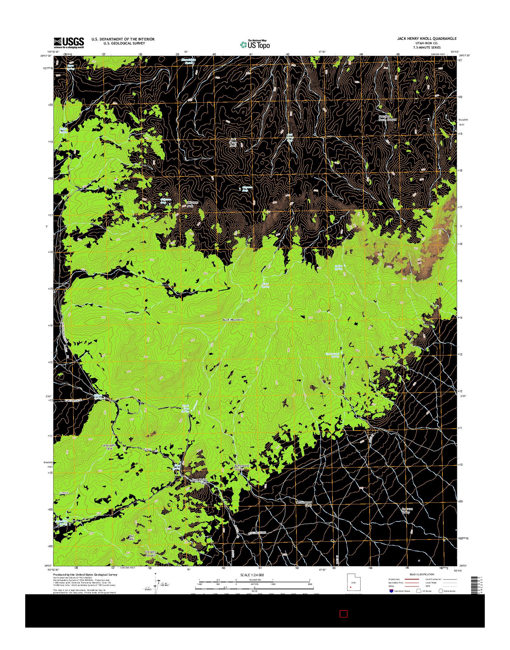 USGS US TOPO 7.5-MINUTE MAP FOR JACK HENRY KNOLL, UT 2014