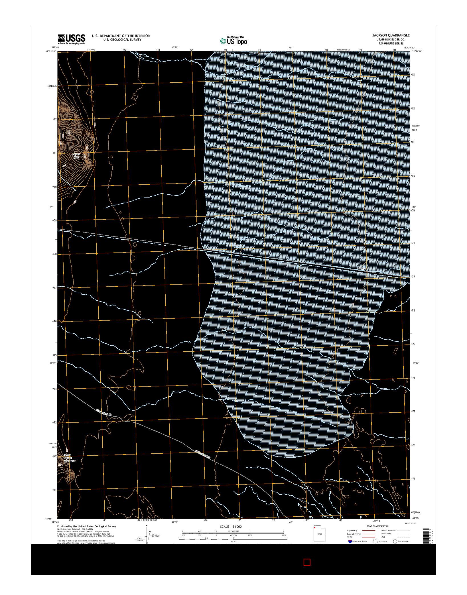 USGS US TOPO 7.5-MINUTE MAP FOR JACKSON, UT 2014