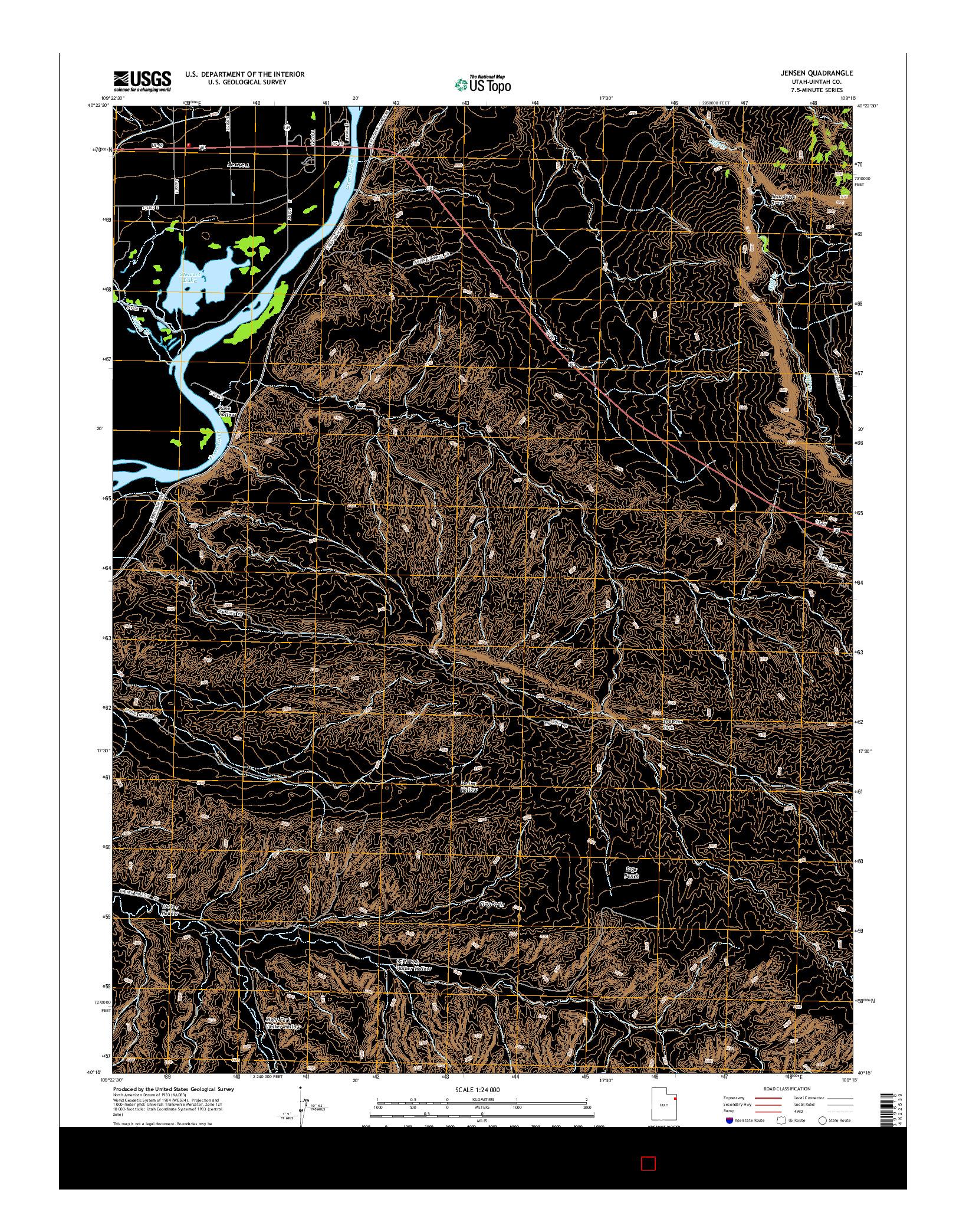 USGS US TOPO 7.5-MINUTE MAP FOR JENSEN, UT 2014