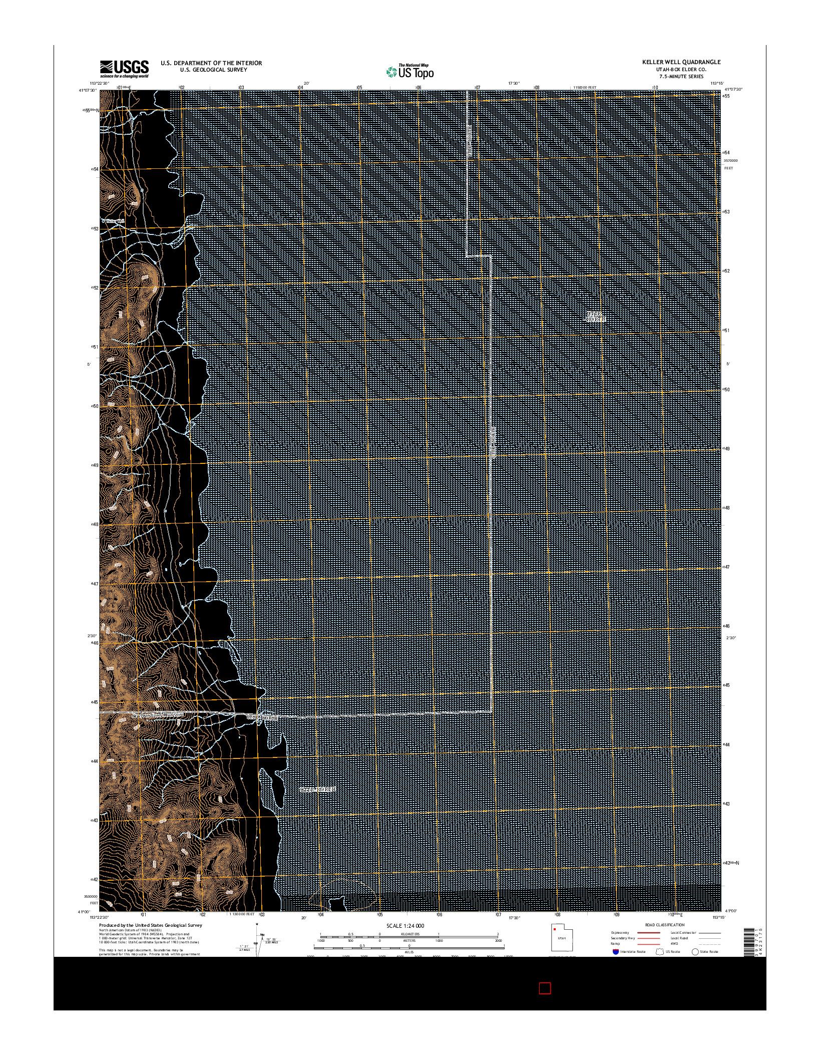 USGS US TOPO 7.5-MINUTE MAP FOR KELLER WELL, UT 2014
