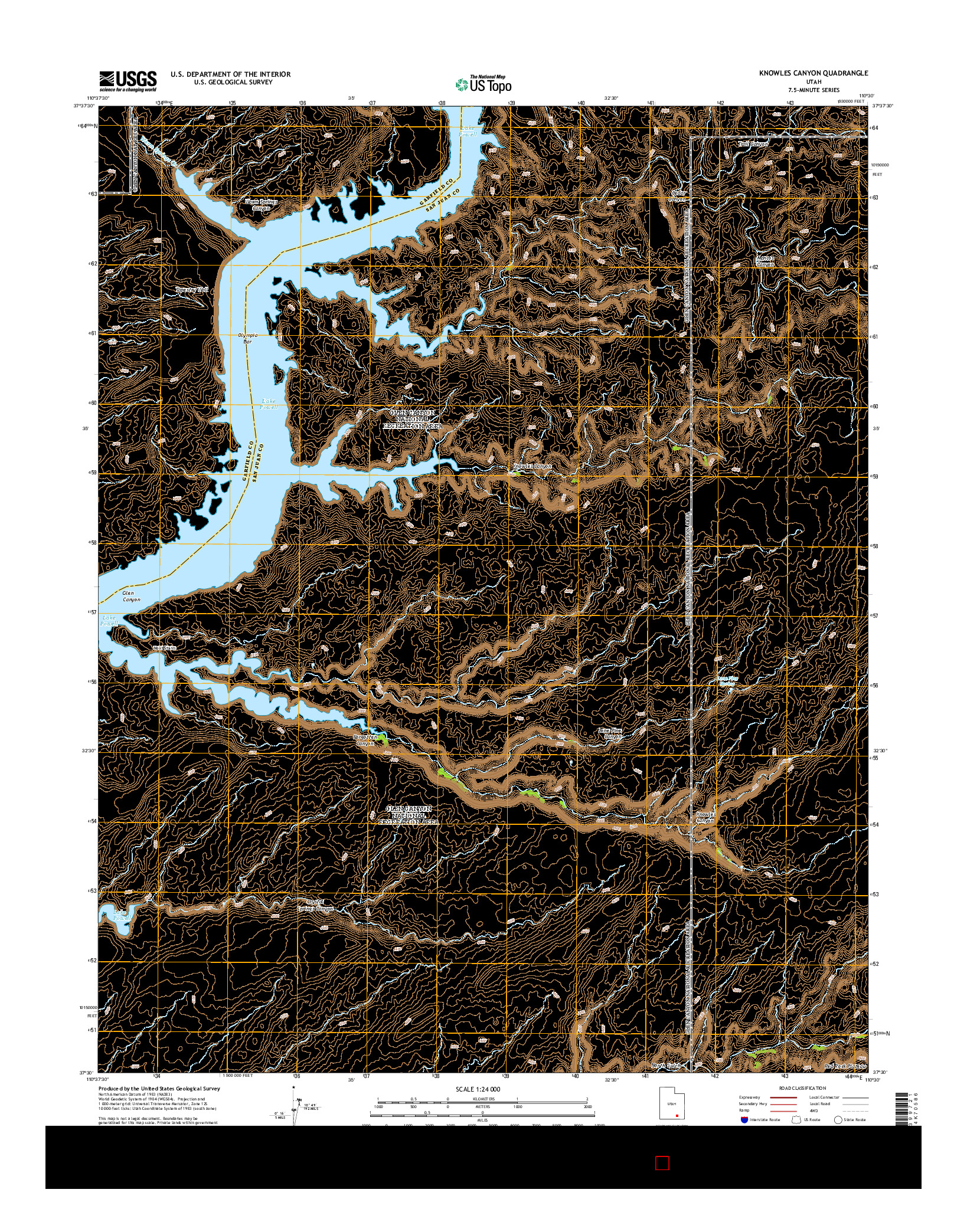 USGS US TOPO 7.5-MINUTE MAP FOR KNOWLES CANYON, UT 2014