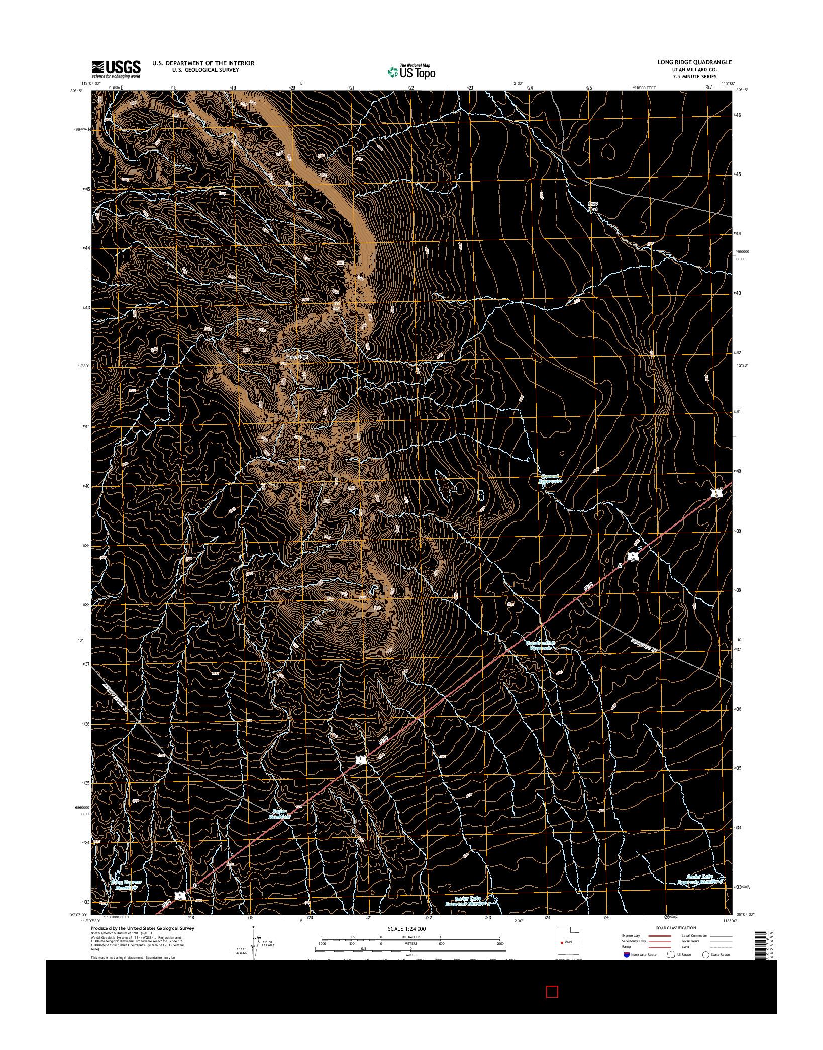 USGS US TOPO 7.5-MINUTE MAP FOR LONG RIDGE, UT 2014