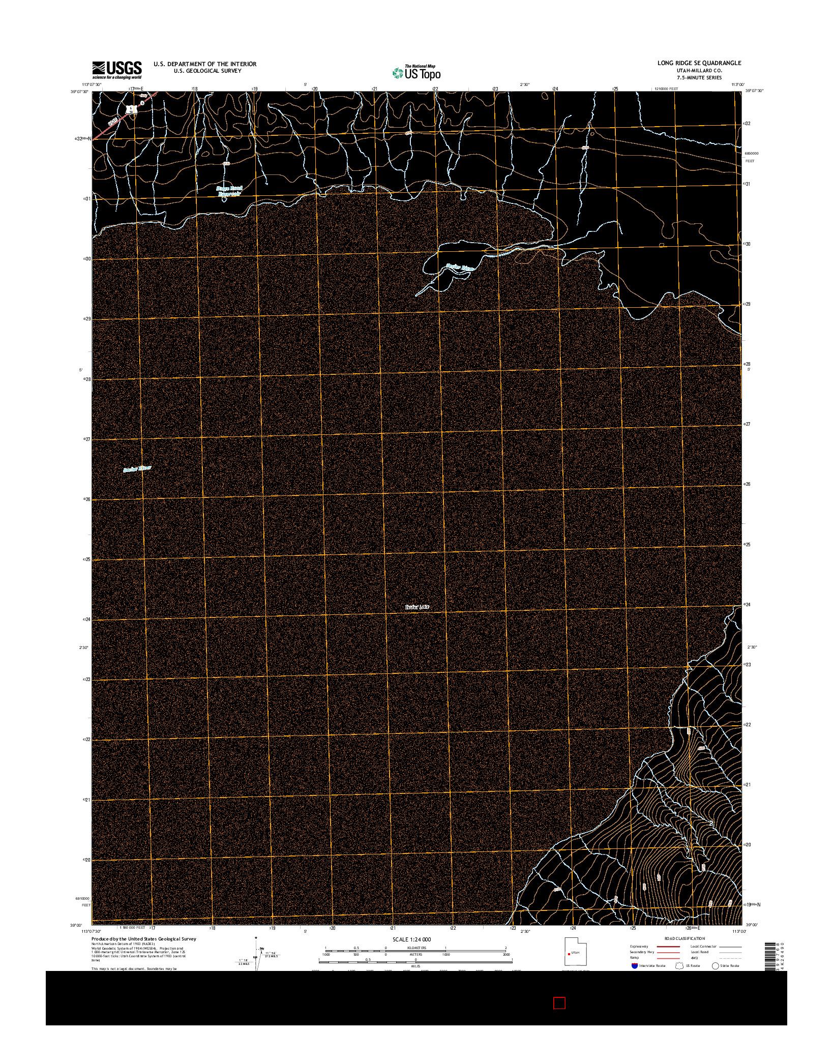 USGS US TOPO 7.5-MINUTE MAP FOR LONG RIDGE SE, UT 2014