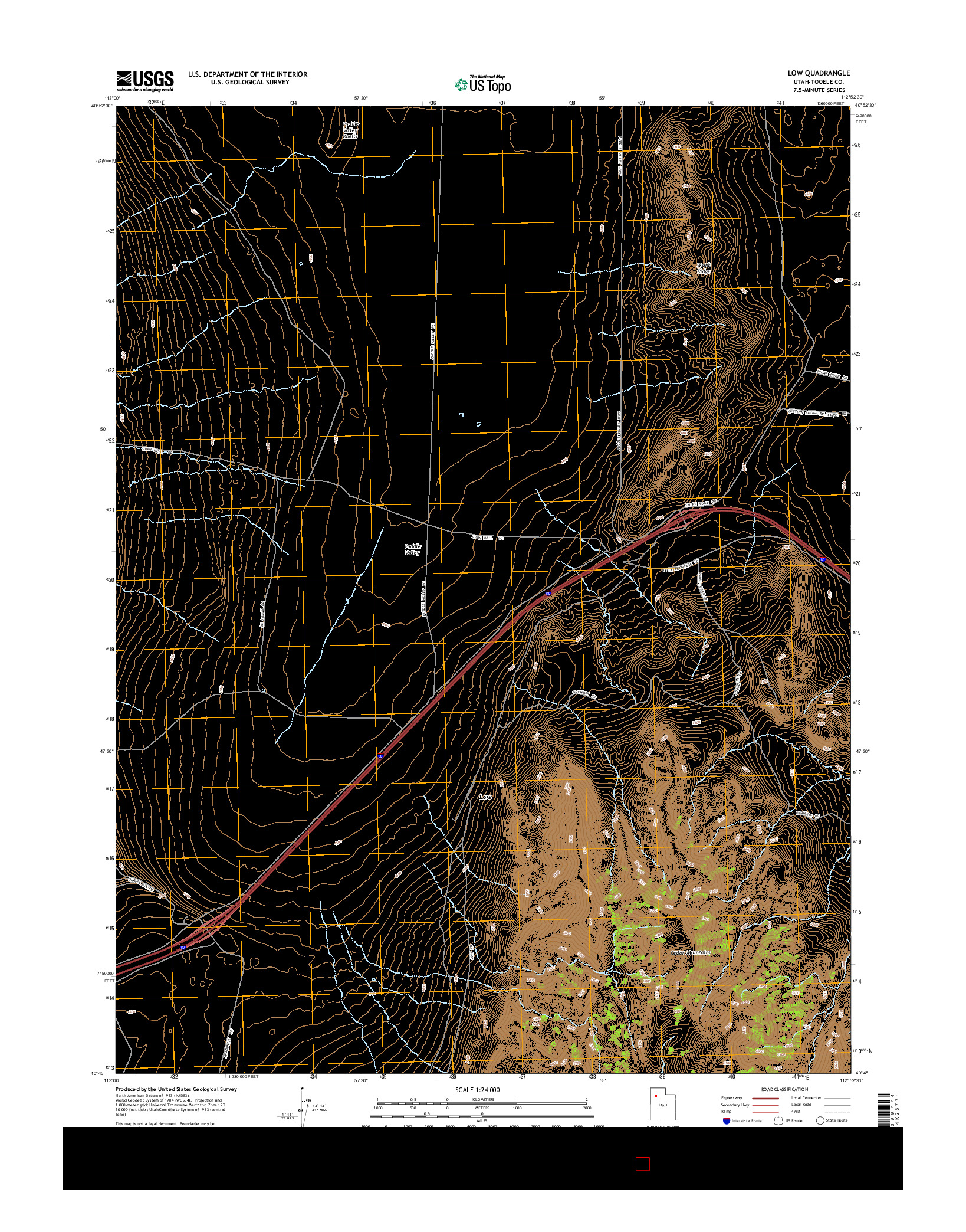 USGS US TOPO 7.5-MINUTE MAP FOR LOW, UT 2014