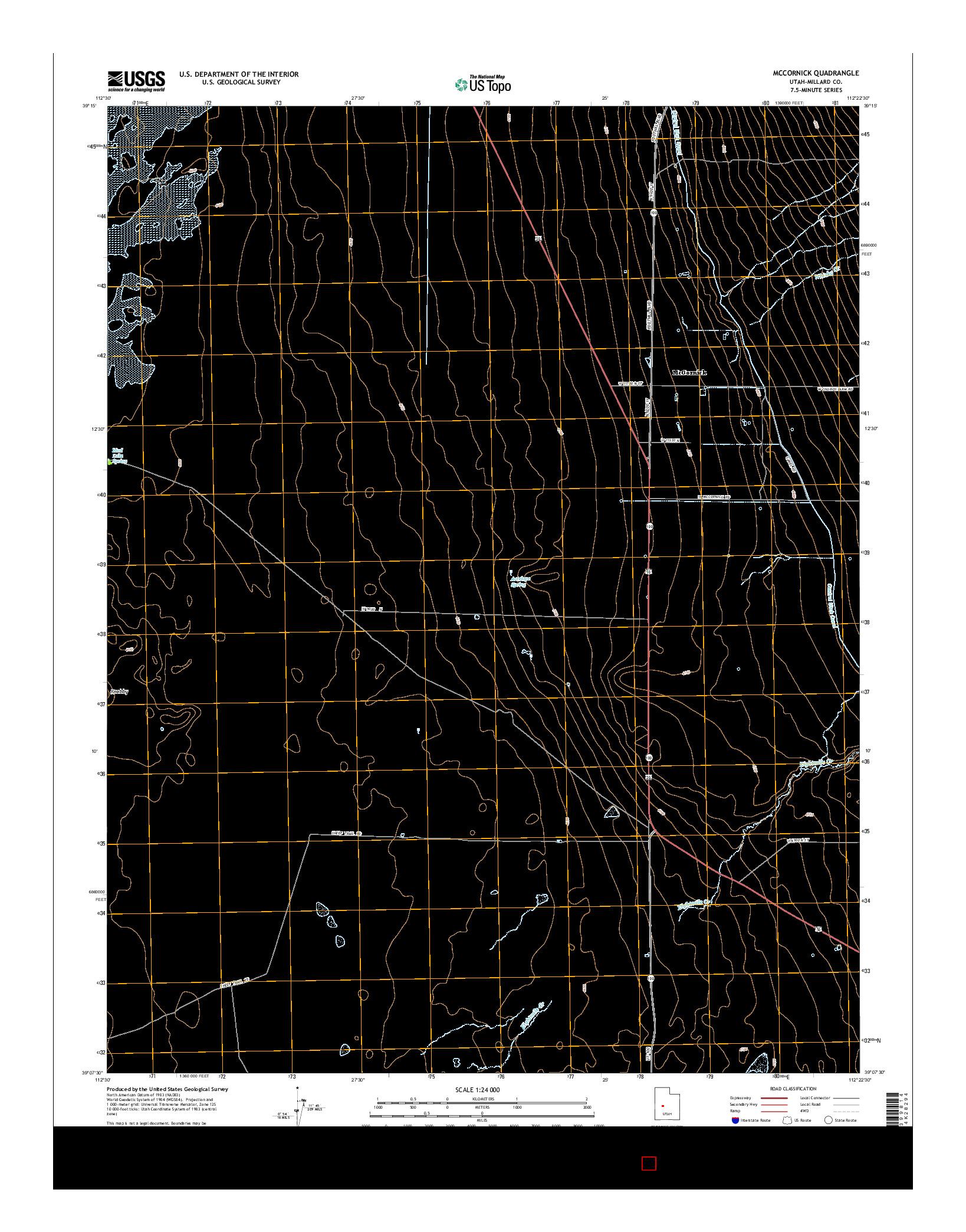 USGS US TOPO 7.5-MINUTE MAP FOR MCCORNICK, UT 2014