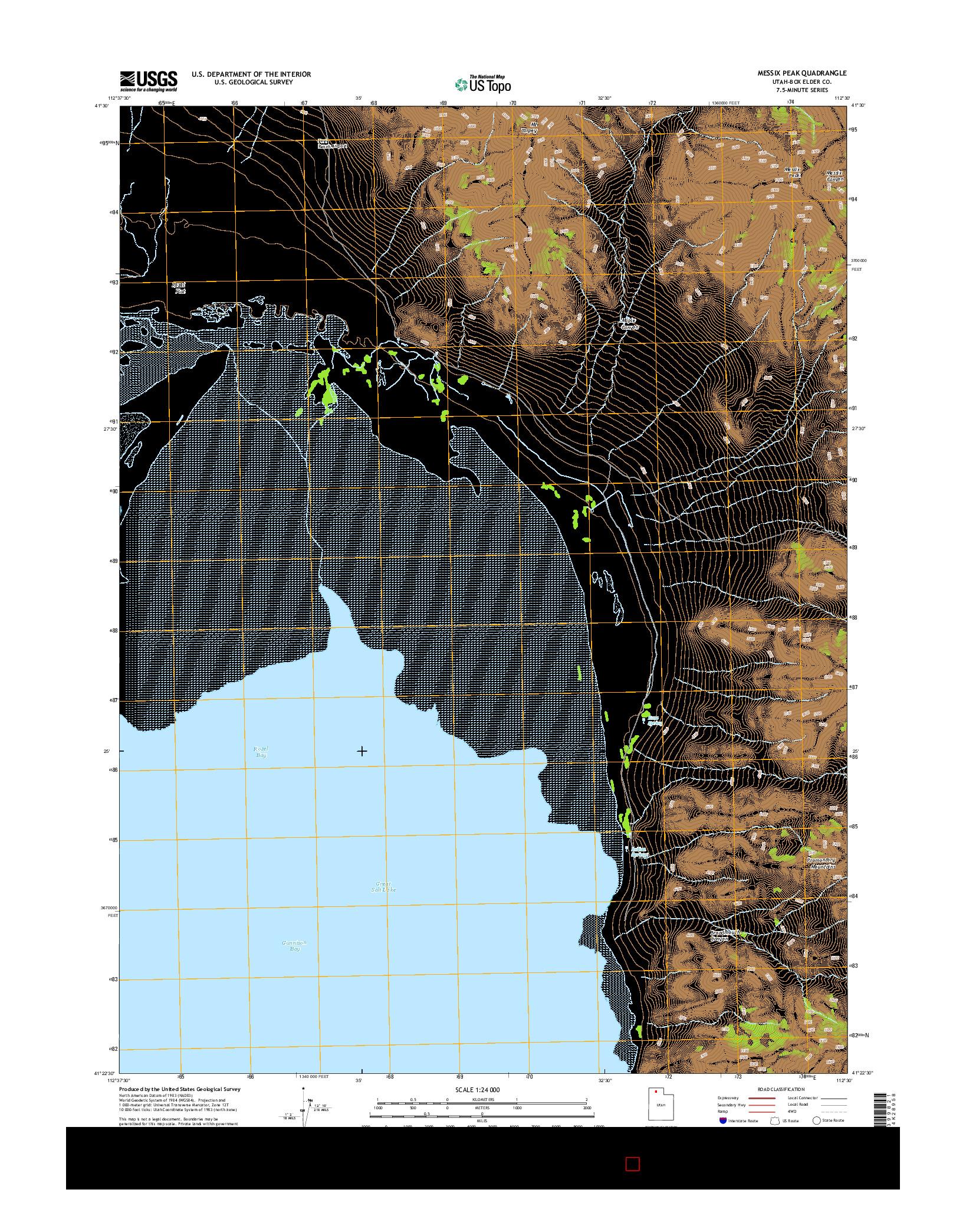 USGS US TOPO 7.5-MINUTE MAP FOR MESSIX PEAK, UT 2014