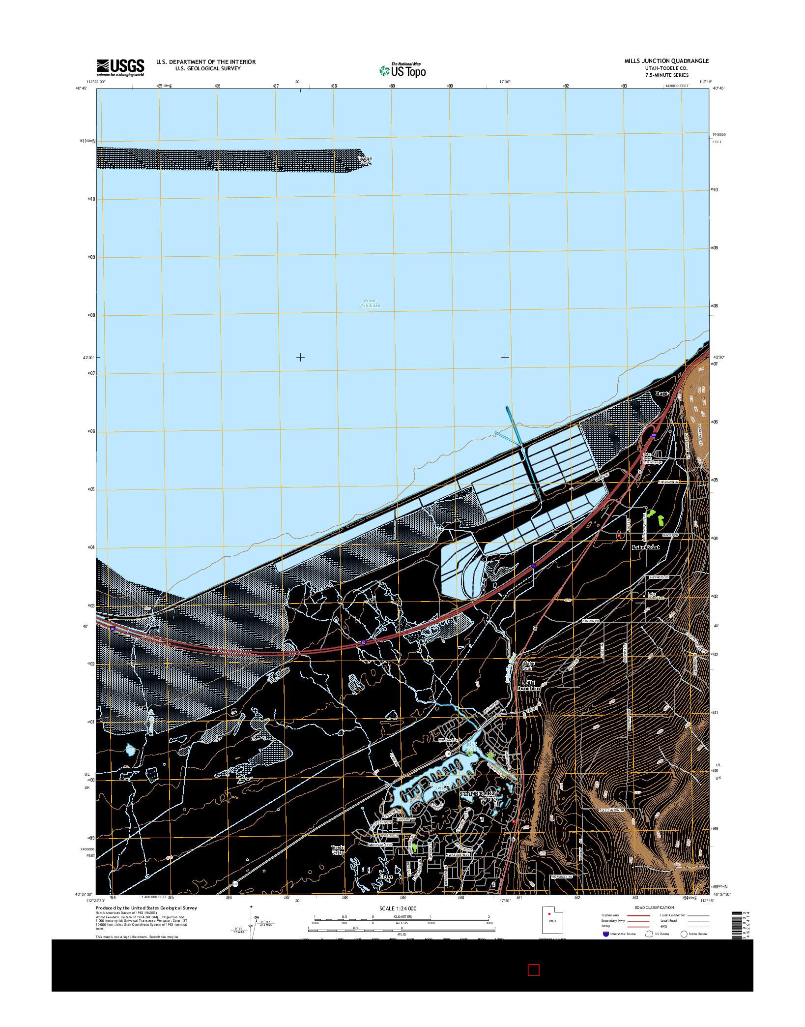 USGS US TOPO 7.5-MINUTE MAP FOR MILLS JUNCTION, UT 2014