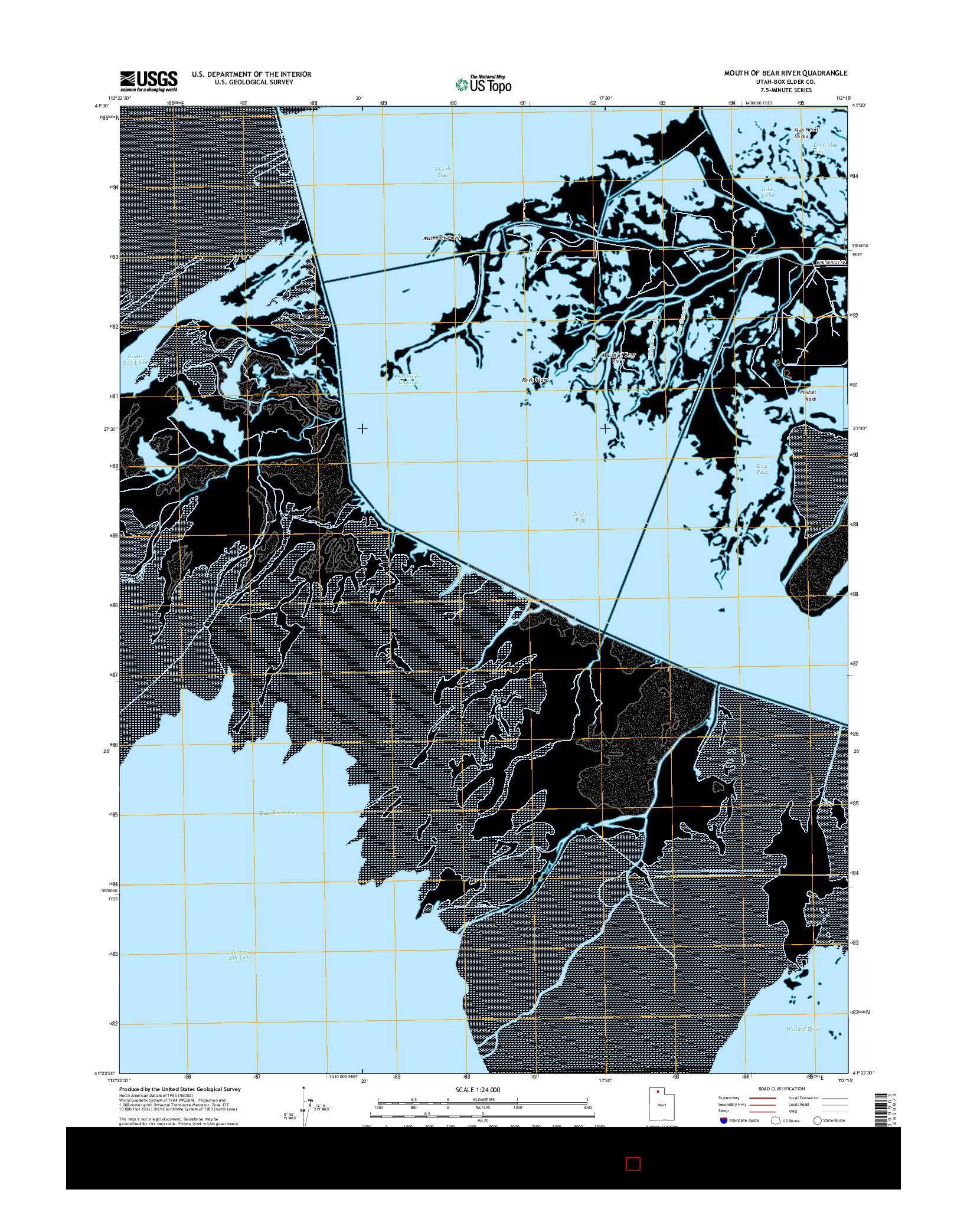 USGS US TOPO 7.5-MINUTE MAP FOR MOUTH OF BEAR RIVER, UT 2014