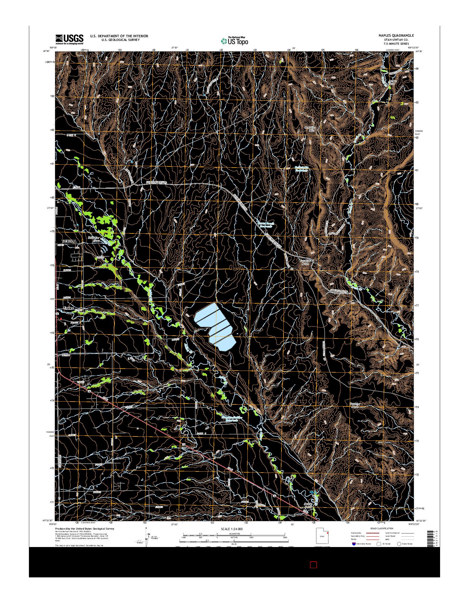 USGS US TOPO 7.5-MINUTE MAP FOR NAPLES, UT 2014