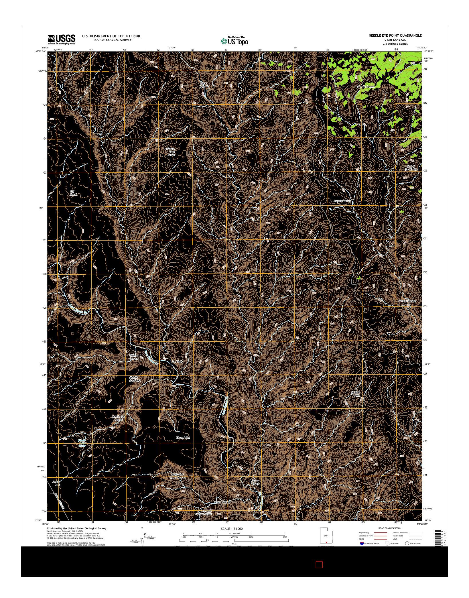 USGS US TOPO 7.5-MINUTE MAP FOR NEEDLE EYE POINT, UT 2014