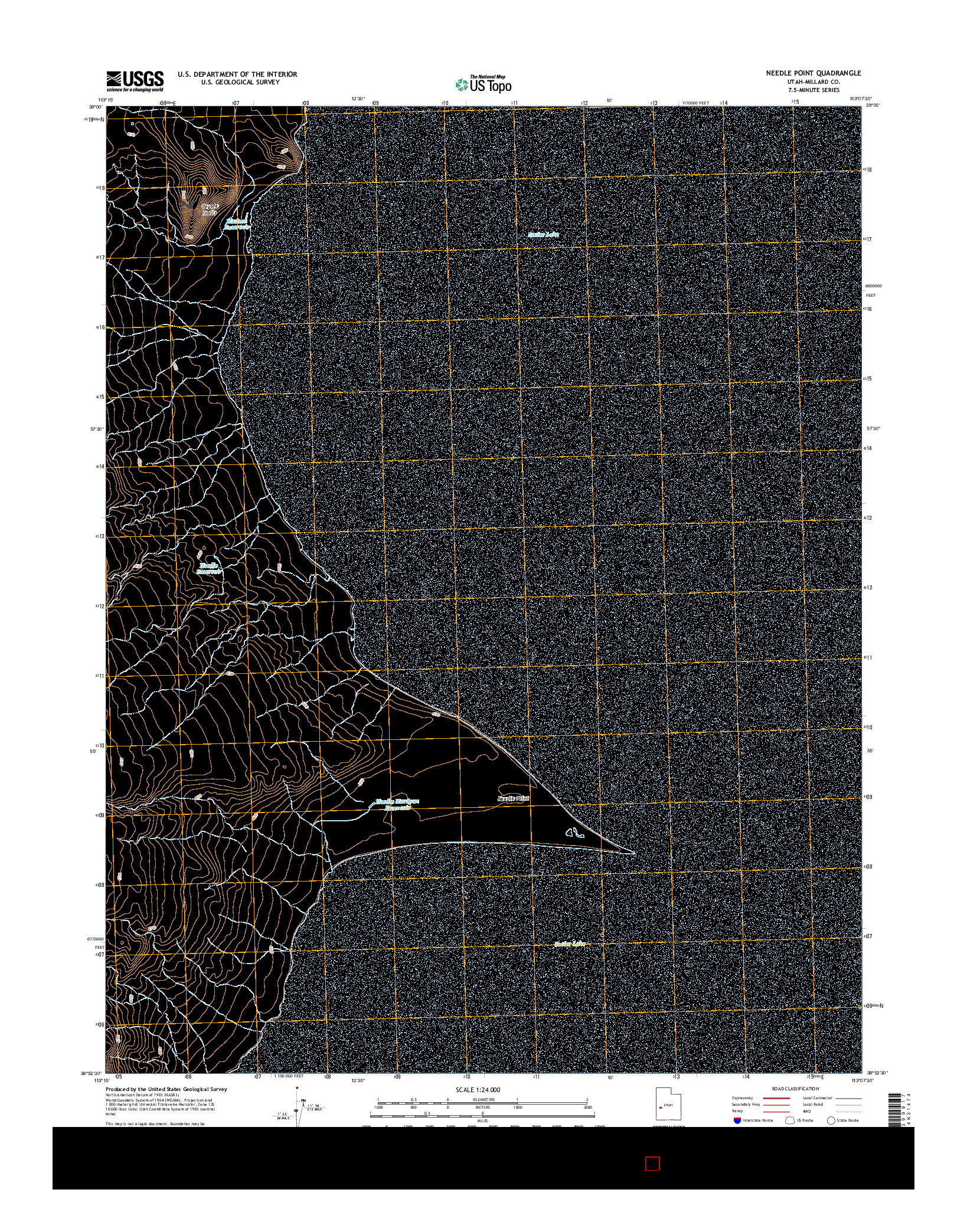 USGS US TOPO 7.5-MINUTE MAP FOR NEEDLE POINT, UT 2014