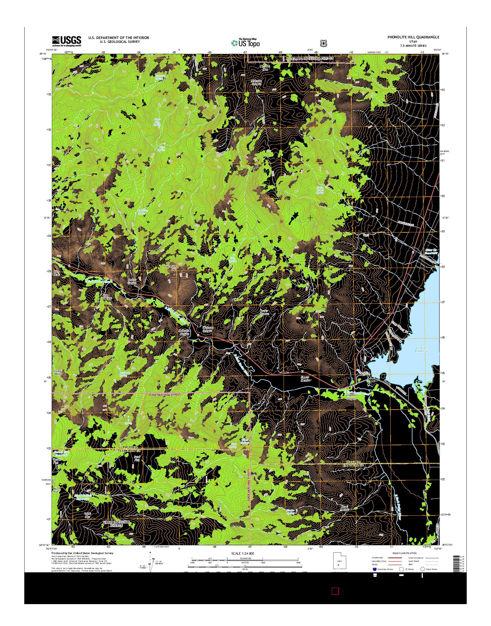 USGS US TOPO 7.5-MINUTE MAP FOR PHONOLITE HILL, UT 2014