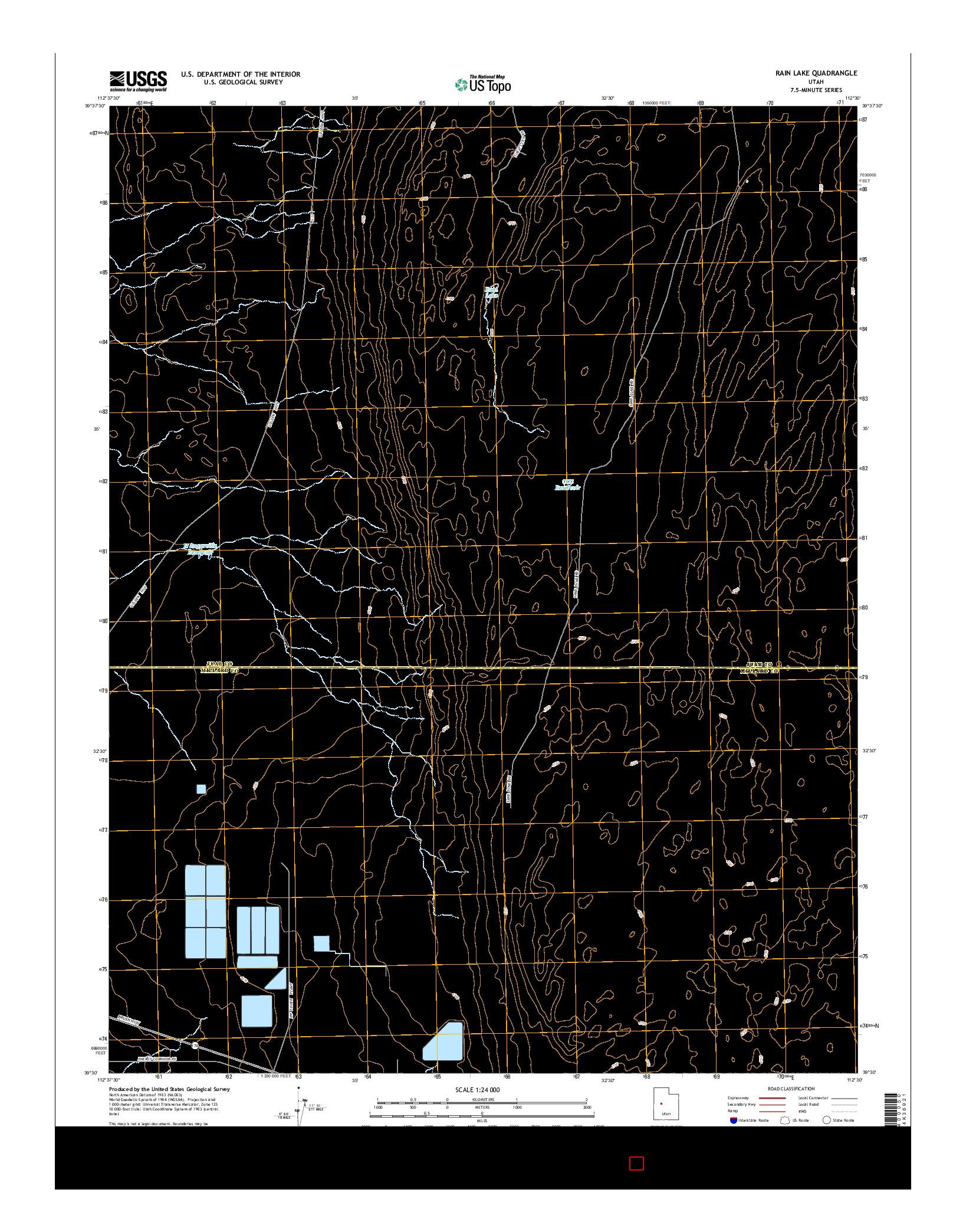 USGS US TOPO 7.5-MINUTE MAP FOR RAIN LAKE, UT 2014