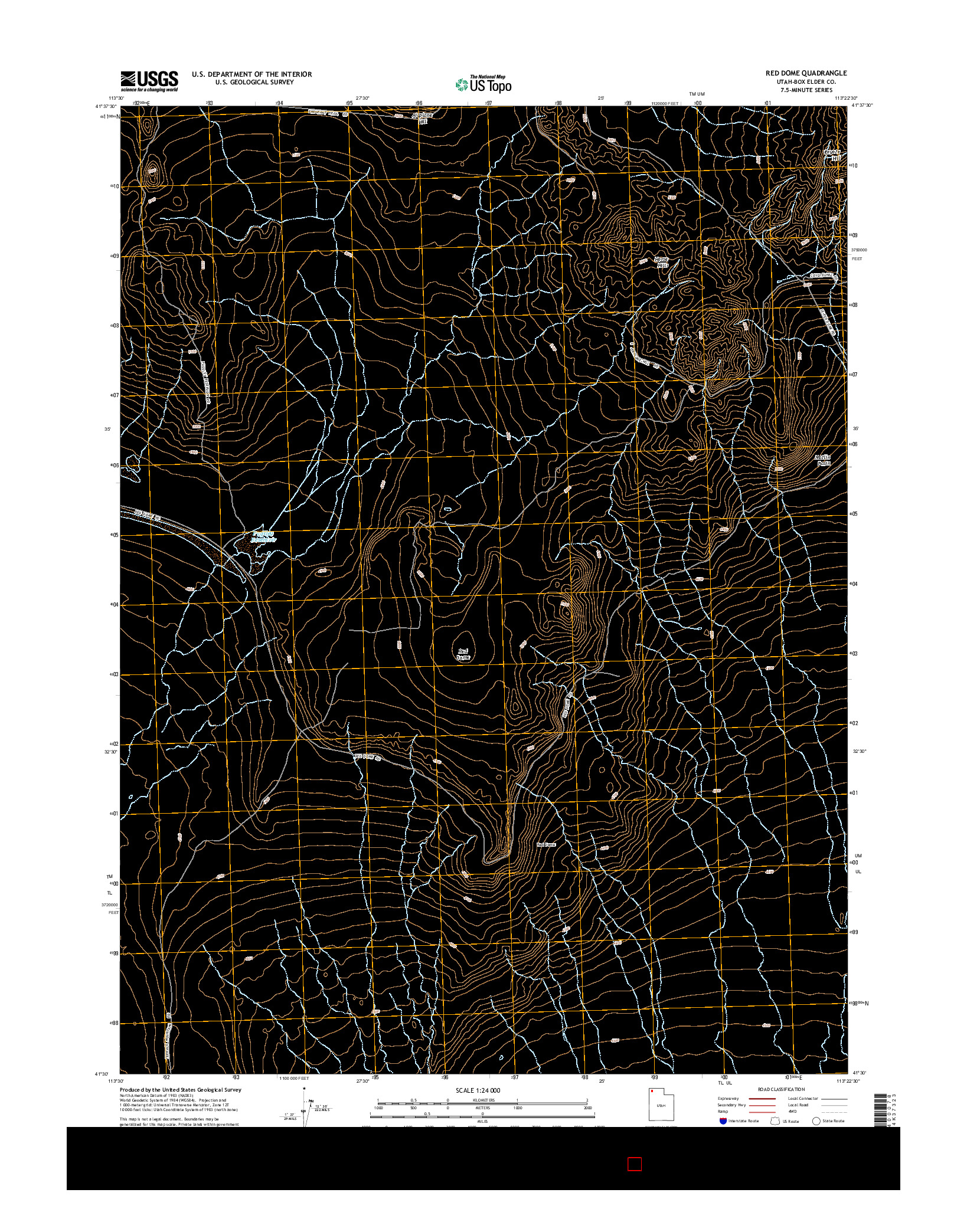 USGS US TOPO 7.5-MINUTE MAP FOR RED DOME, UT 2014