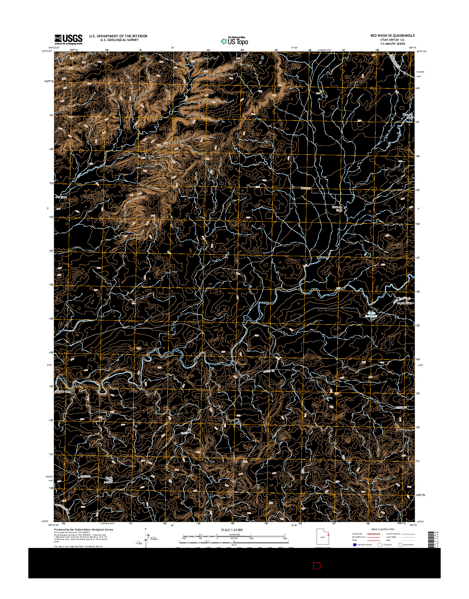 USGS US TOPO 7.5-MINUTE MAP FOR RED WASH SE, UT 2014