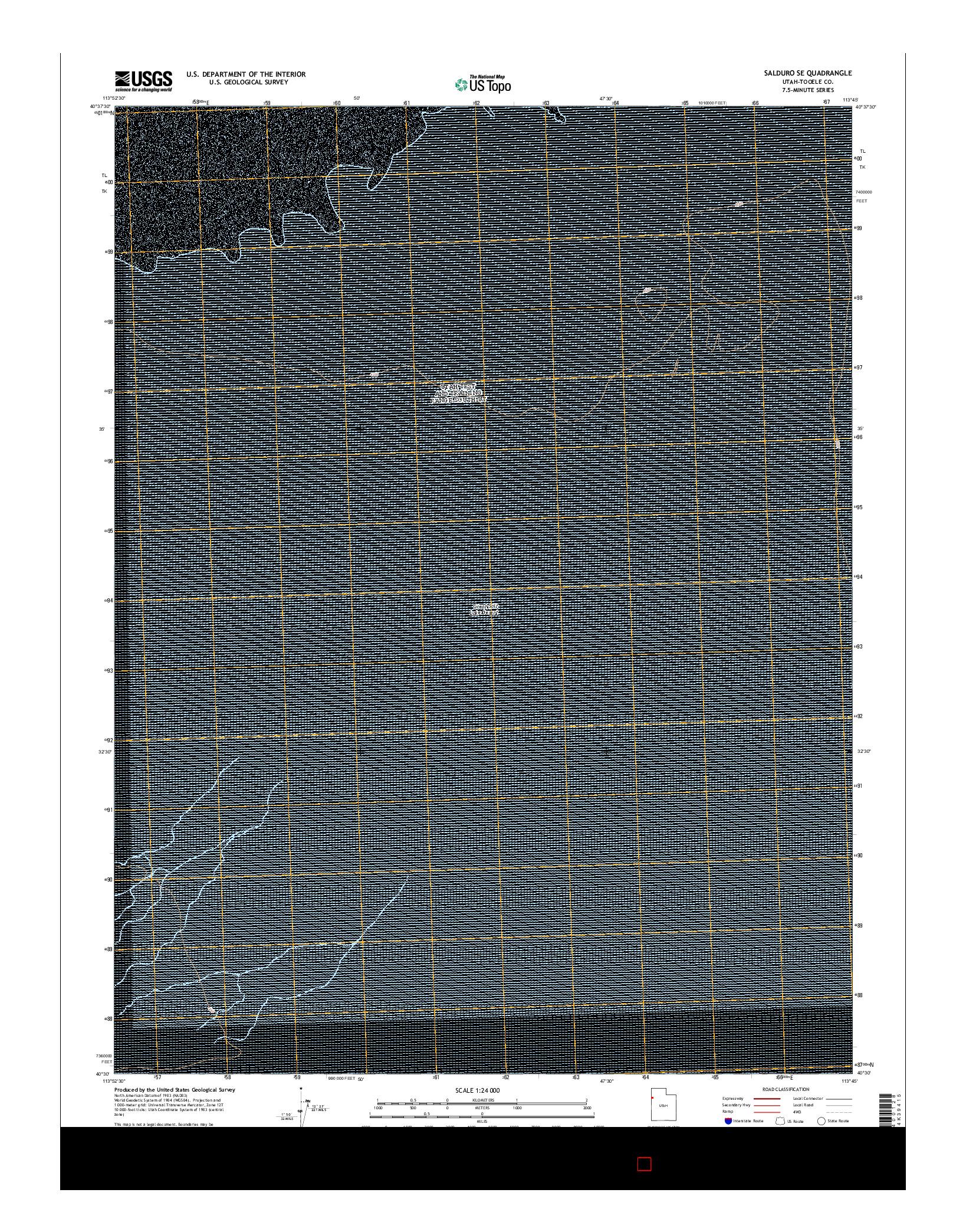 USGS US TOPO 7.5-MINUTE MAP FOR SALDURO SE, UT 2014