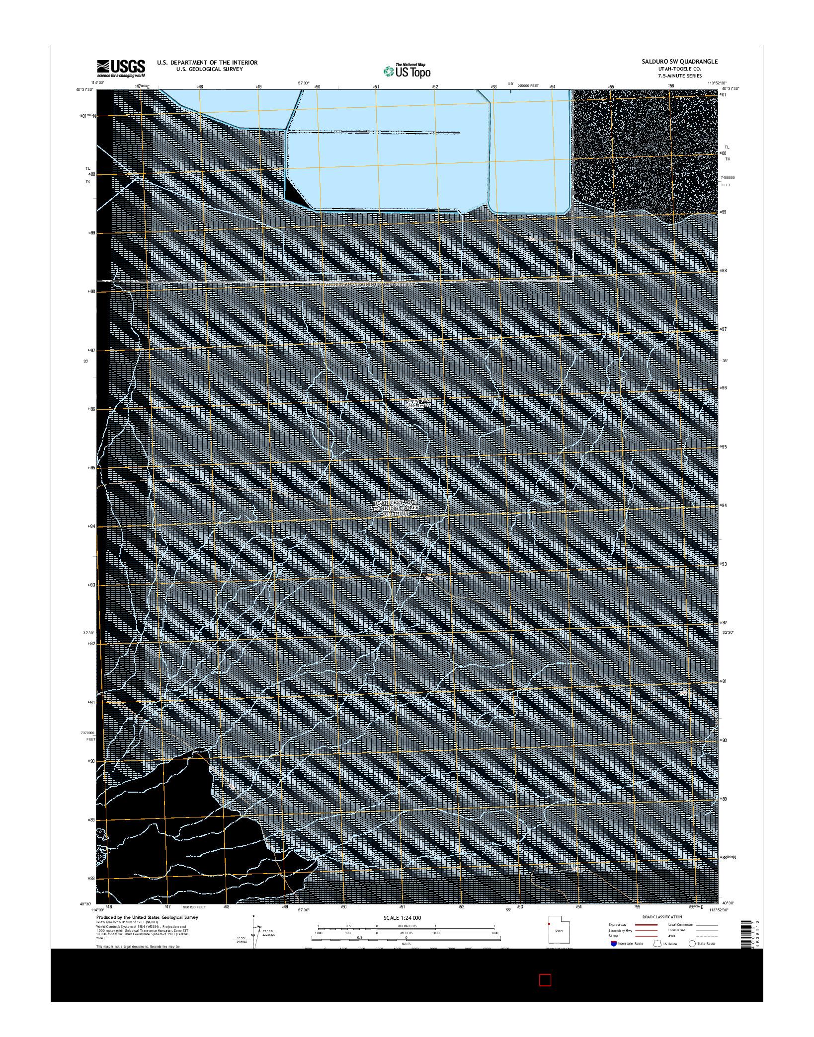 USGS US TOPO 7.5-MINUTE MAP FOR SALDURO SW, UT 2014