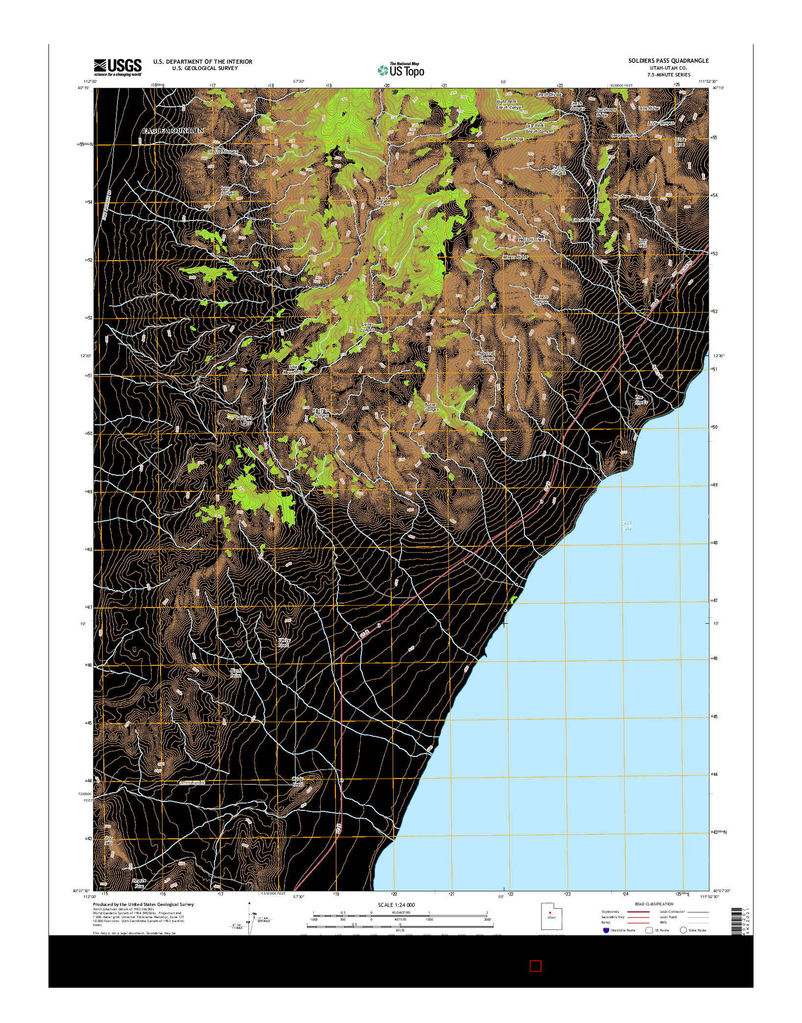 USGS US TOPO 7.5-MINUTE MAP FOR SOLDIERS PASS, UT 2014