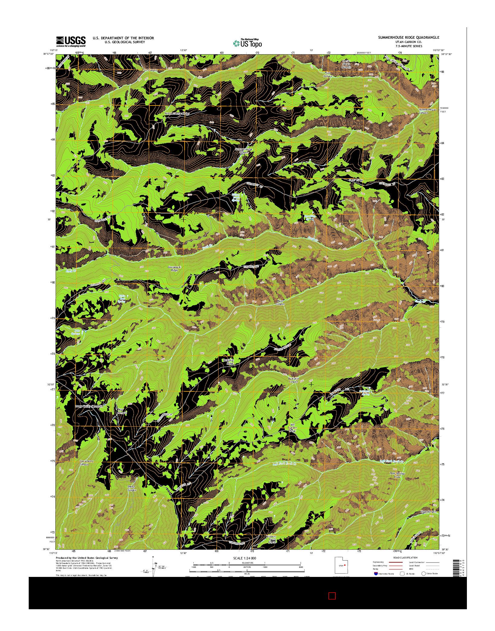 USGS US TOPO 7.5-MINUTE MAP FOR SUMMERHOUSE RIDGE, UT 2014