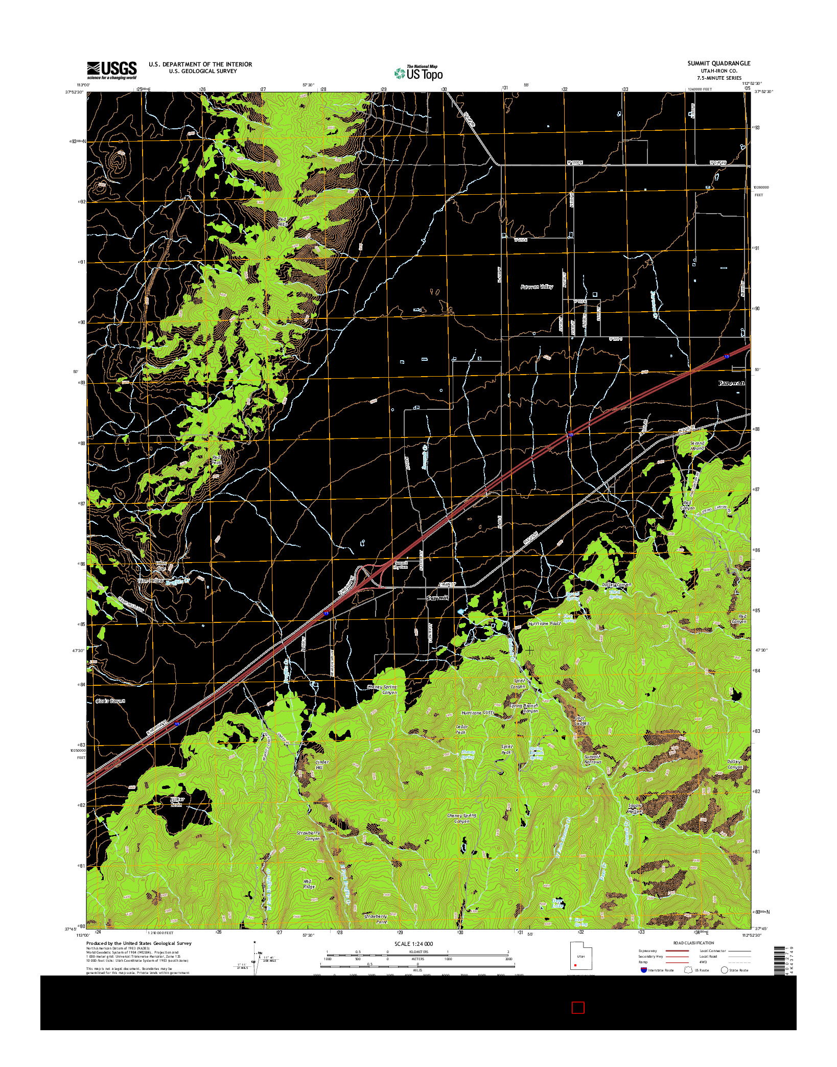 USGS US TOPO 7.5-MINUTE MAP FOR SUMMIT, UT 2014