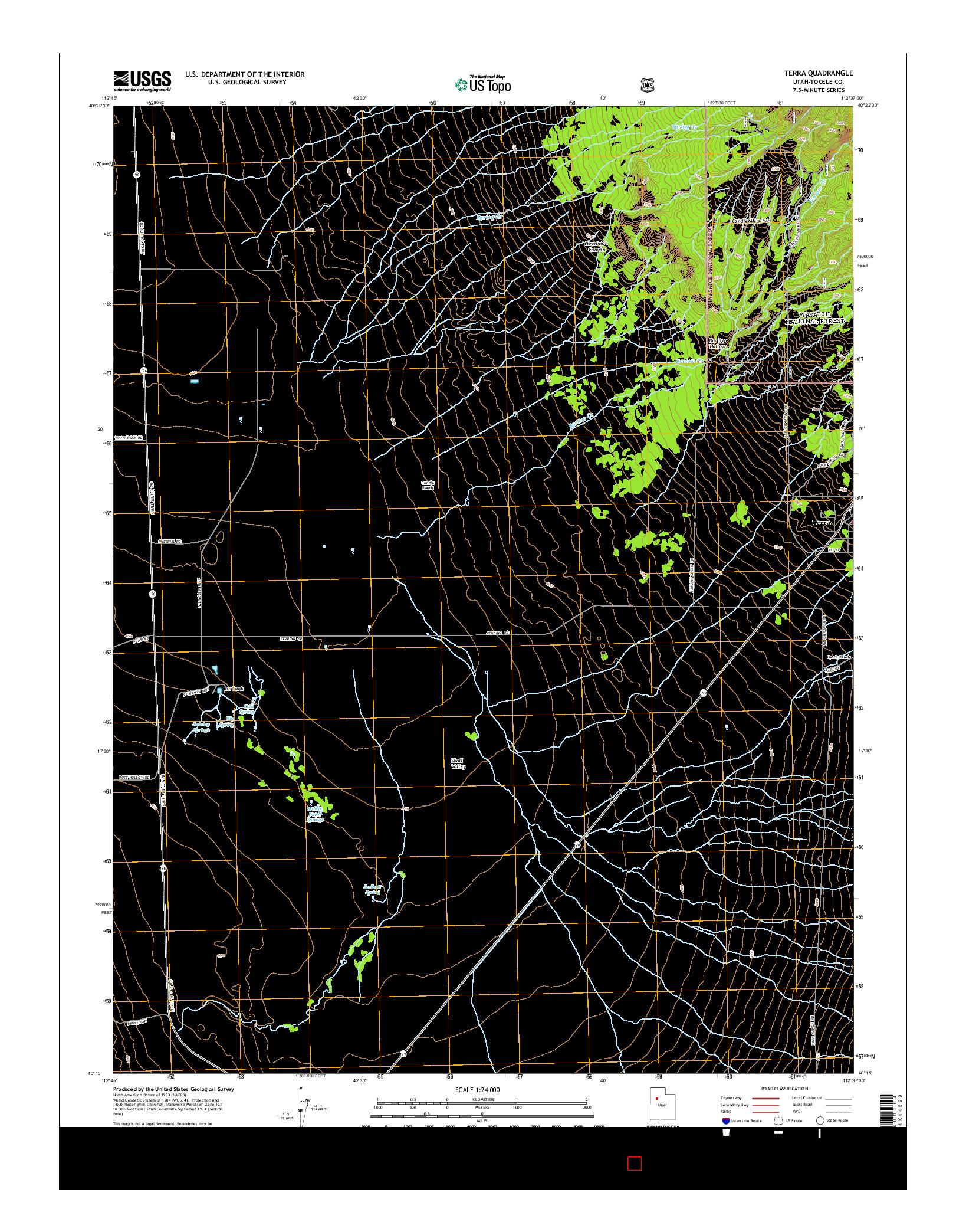 USGS US TOPO 7.5-MINUTE MAP FOR TERRA, UT 2014