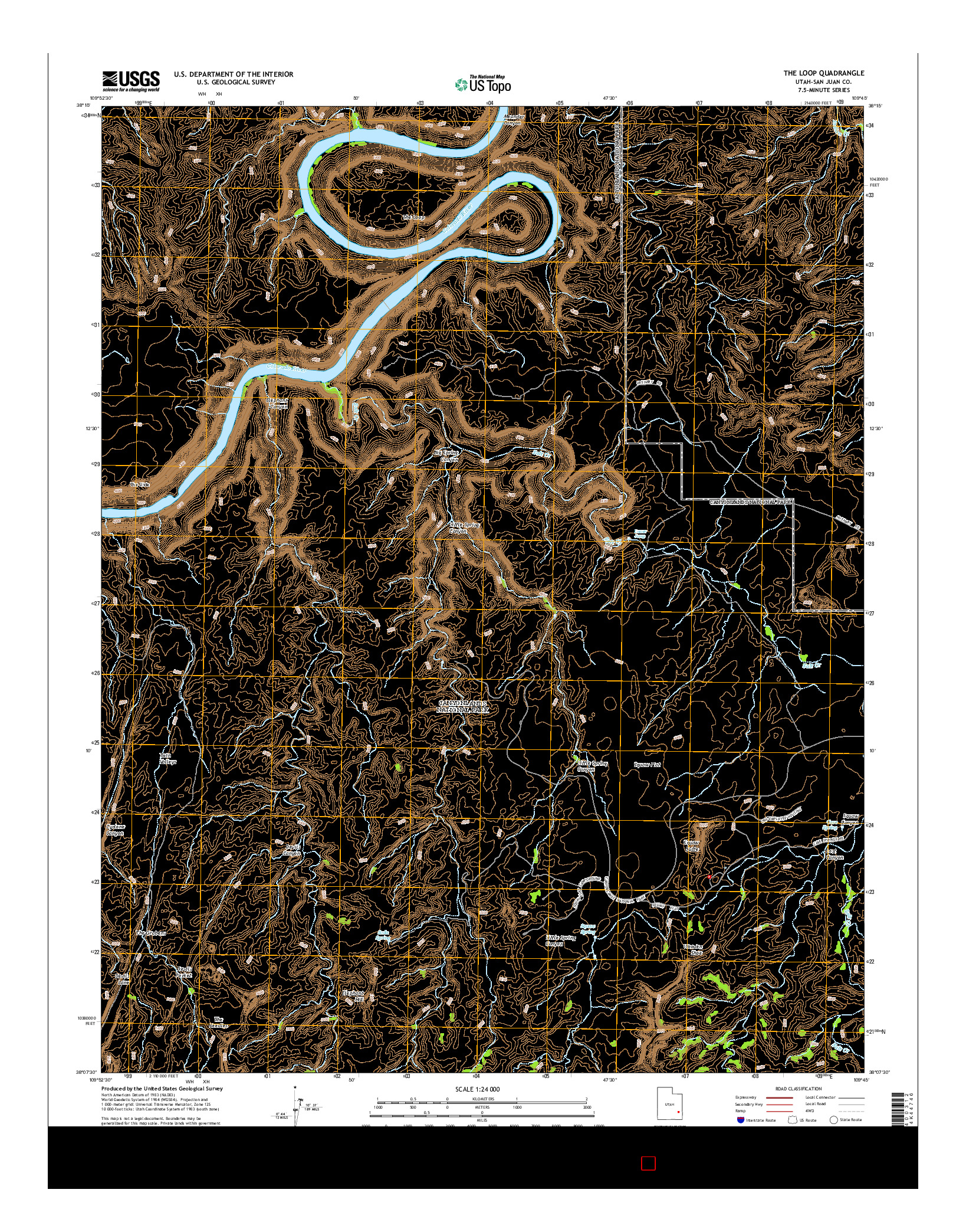 USGS US TOPO 7.5-MINUTE MAP FOR THE LOOP, UT 2014