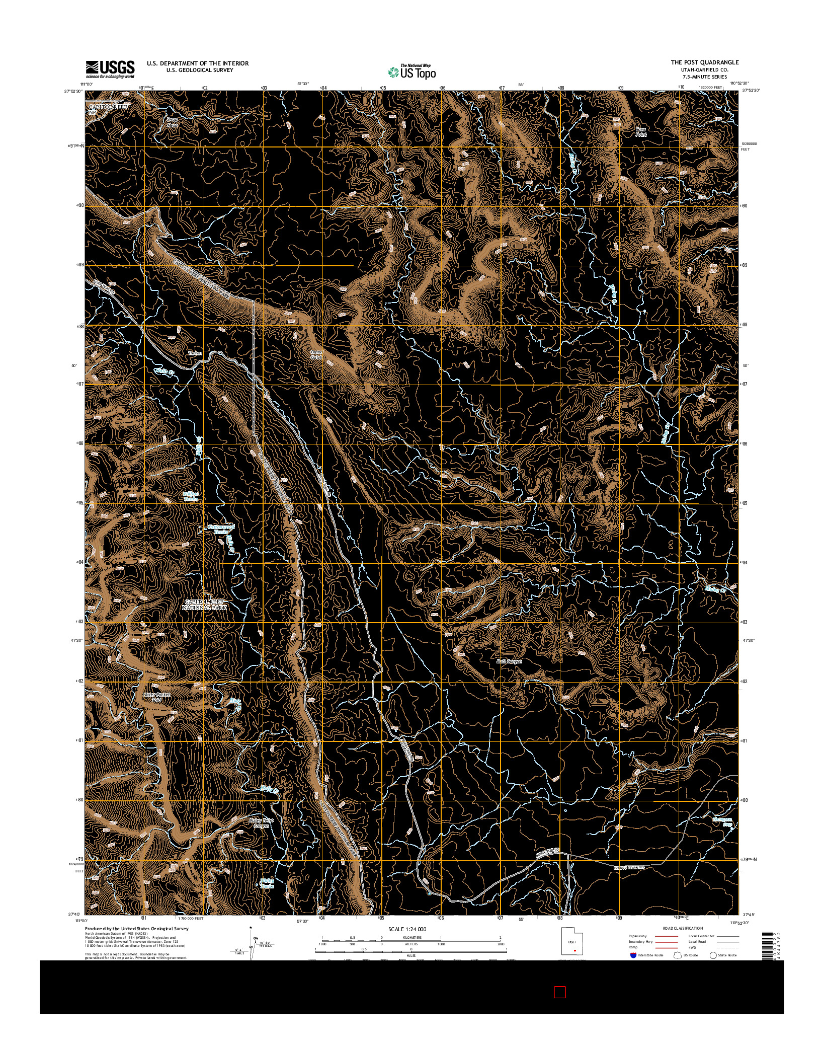 USGS US TOPO 7.5-MINUTE MAP FOR THE POST, UT 2014