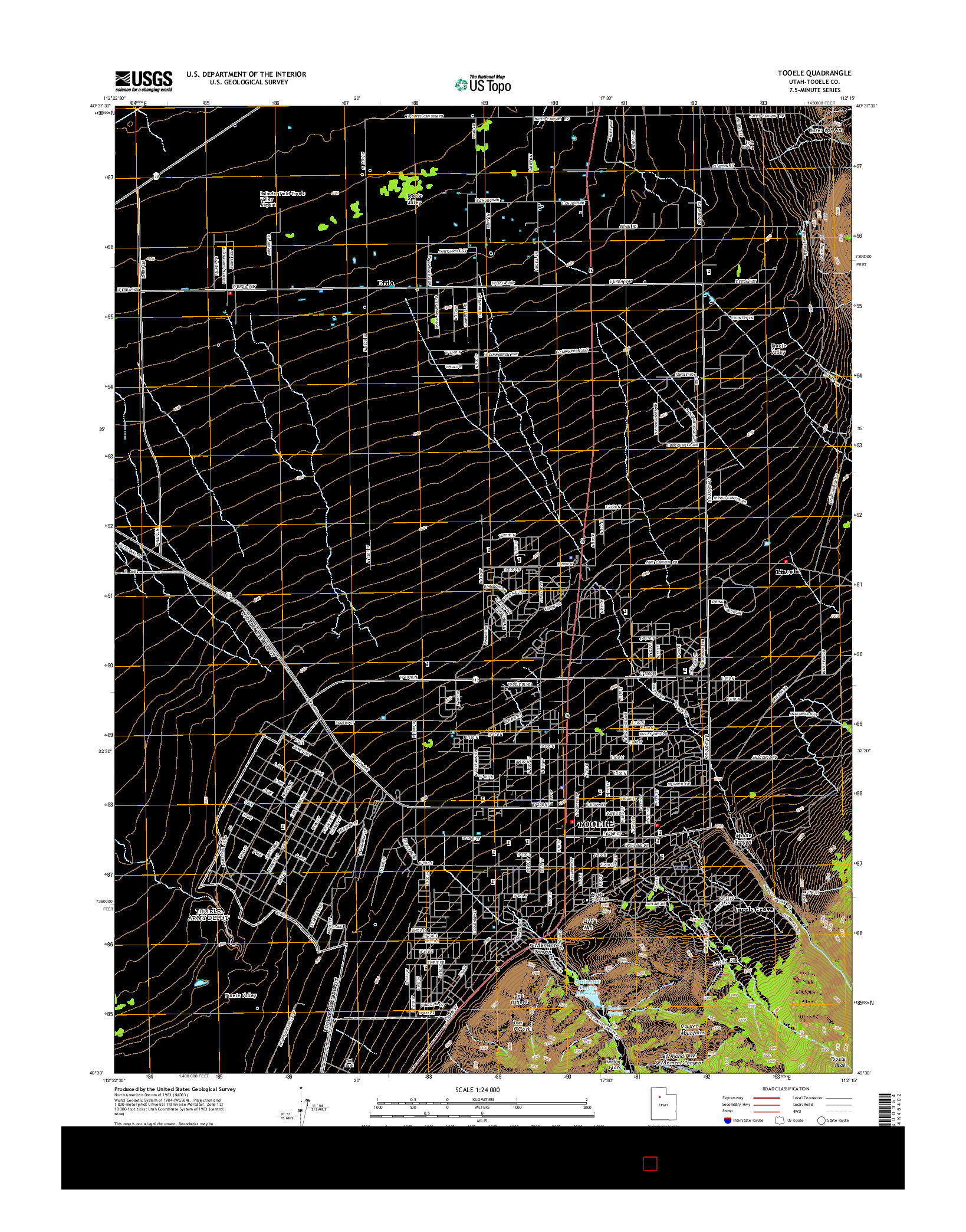 USGS US TOPO 7.5-MINUTE MAP FOR TOOELE, UT 2014