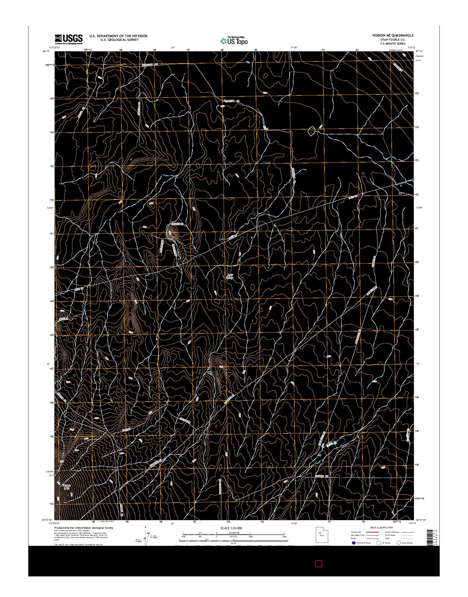 USGS US TOPO 7.5-MINUTE MAP FOR VERNON NE, UT 2014