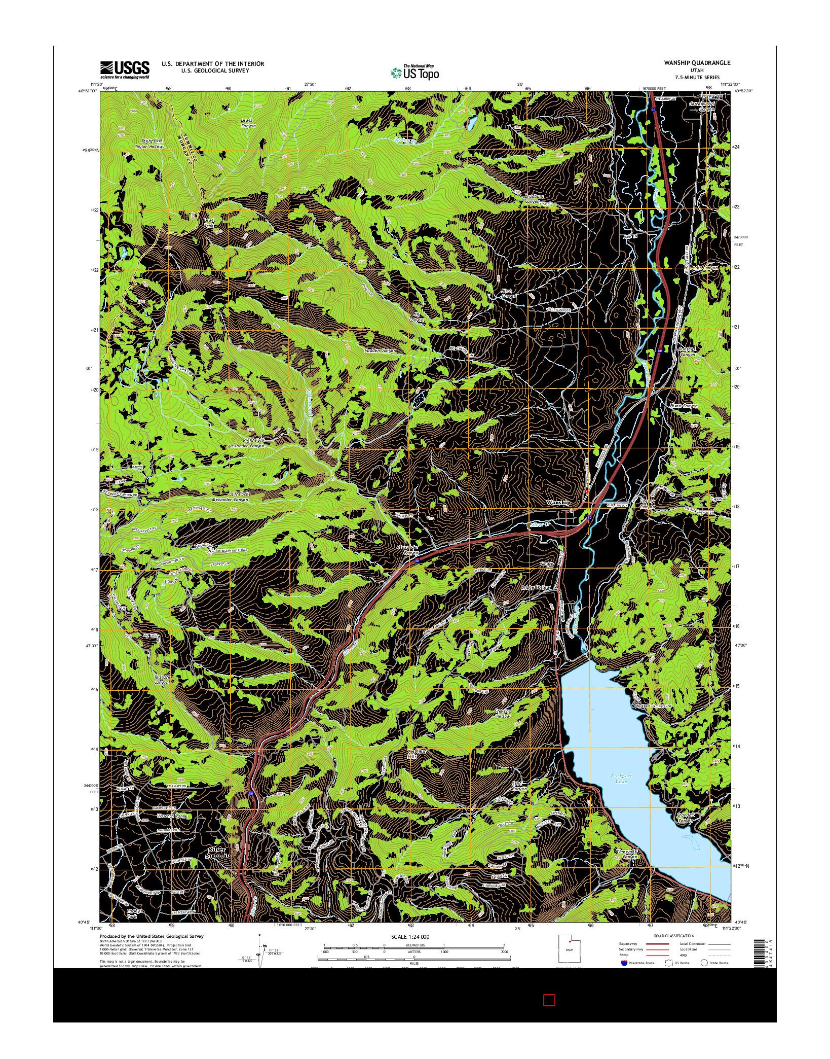USGS US TOPO 7.5-MINUTE MAP FOR WANSHIP, UT 2014